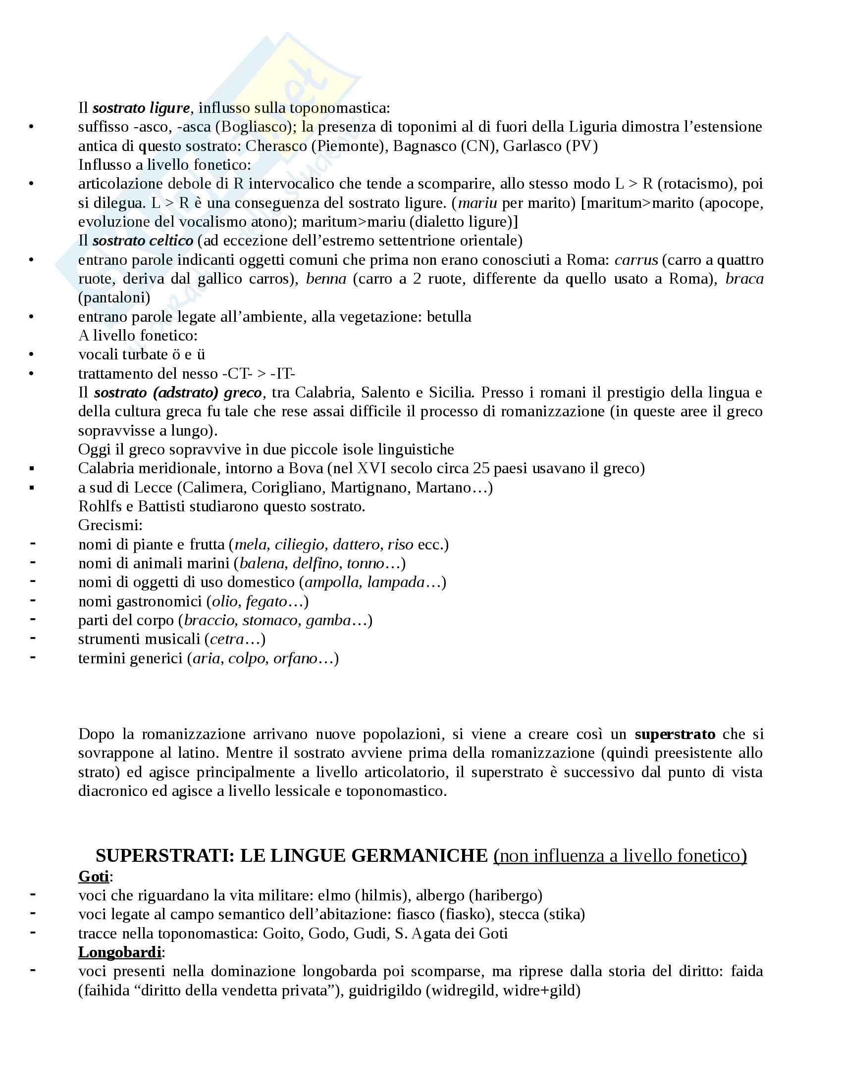 Appunti completi Linguistica Italiana - Prof. Cacia Pag. 6