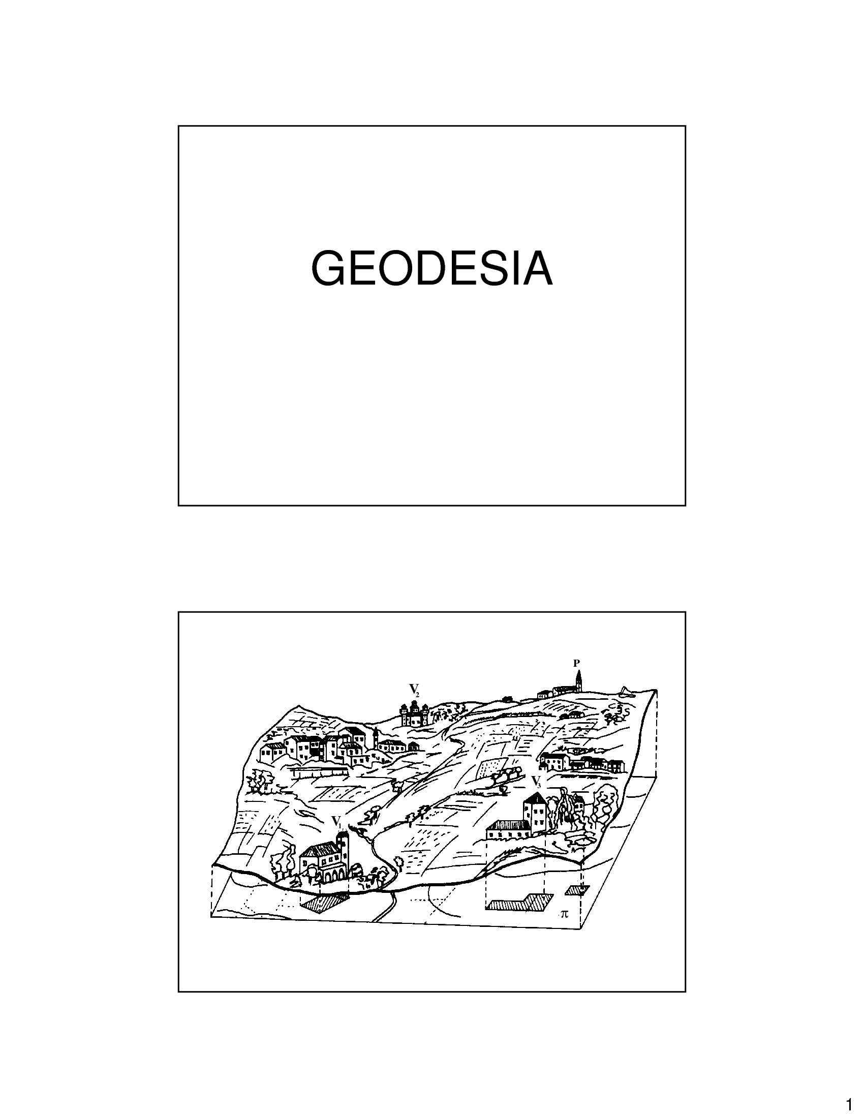 Geodesia - Geoide ed Ellissoide