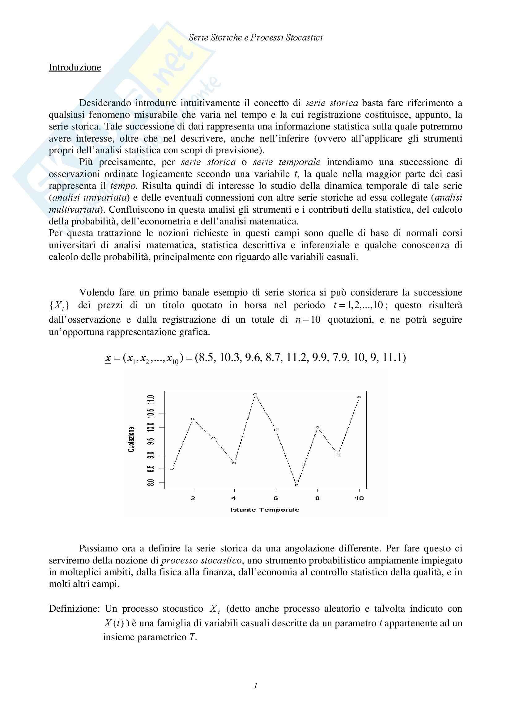 Statistica economica - serie storiche