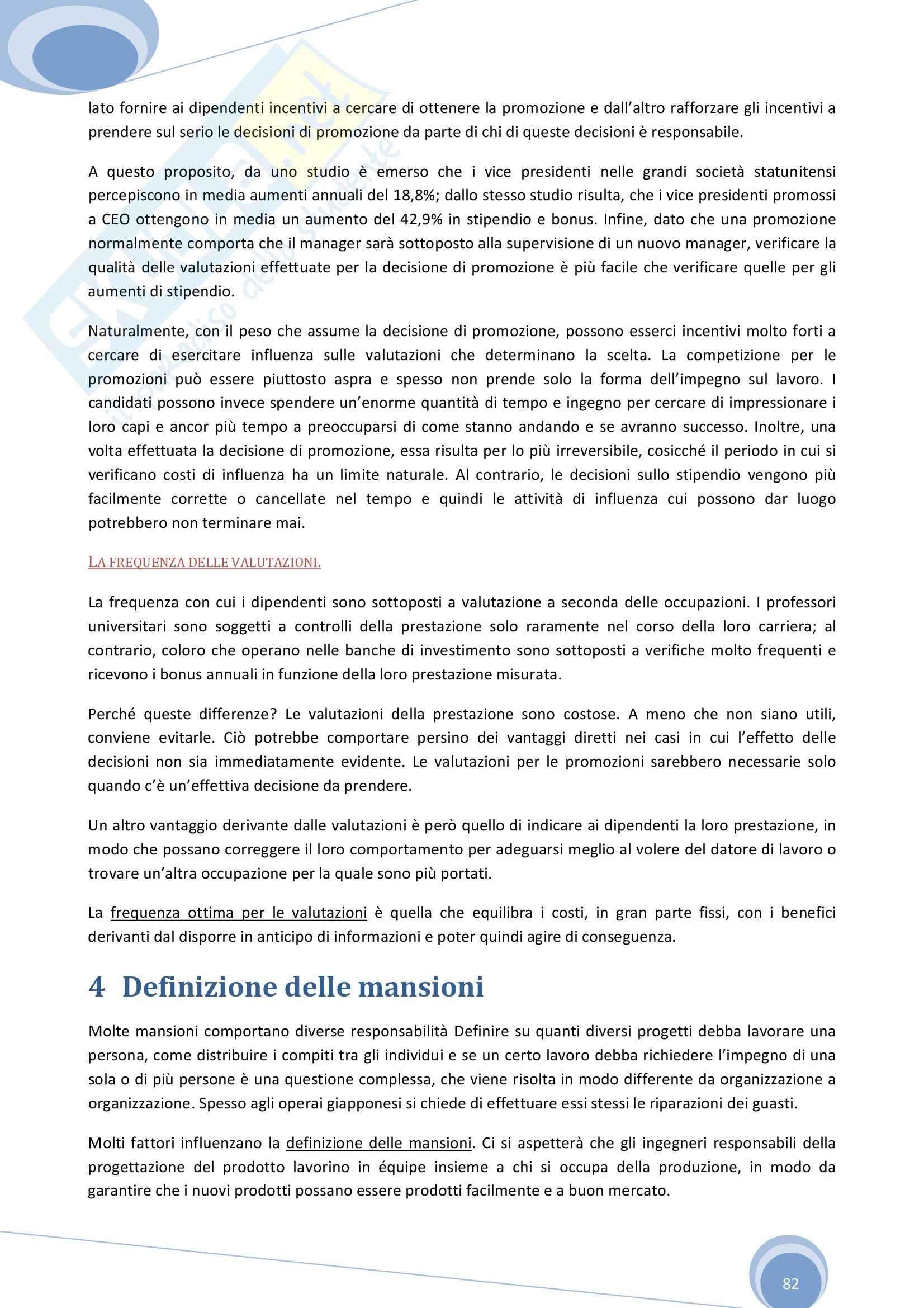 Riassunto esame Economia Aziendale, prof. Colombo, libro consigliato Economia, Organizzazione e Management di Giuliani Pag. 81