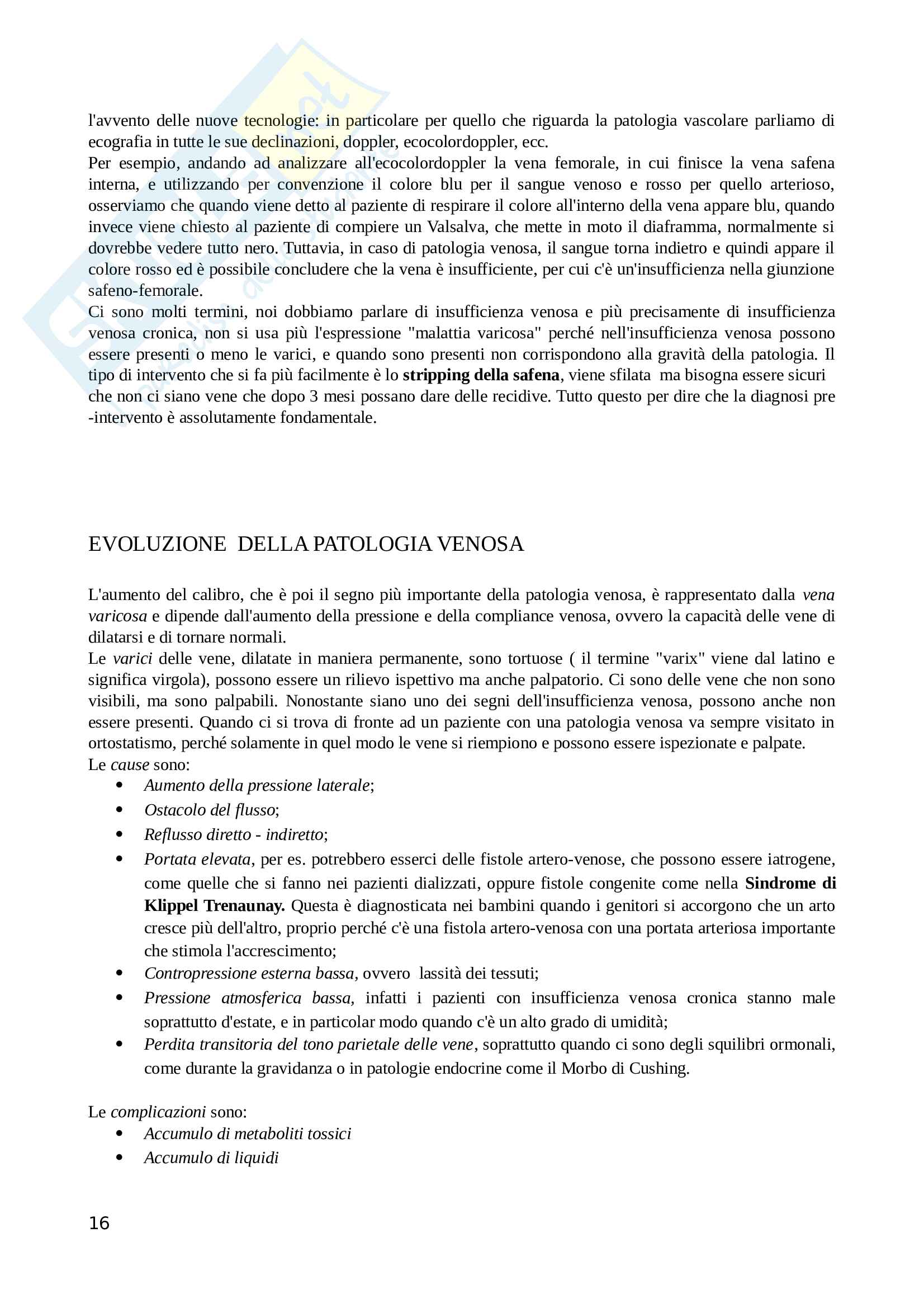 Semeiotica circolatorio Pag. 16