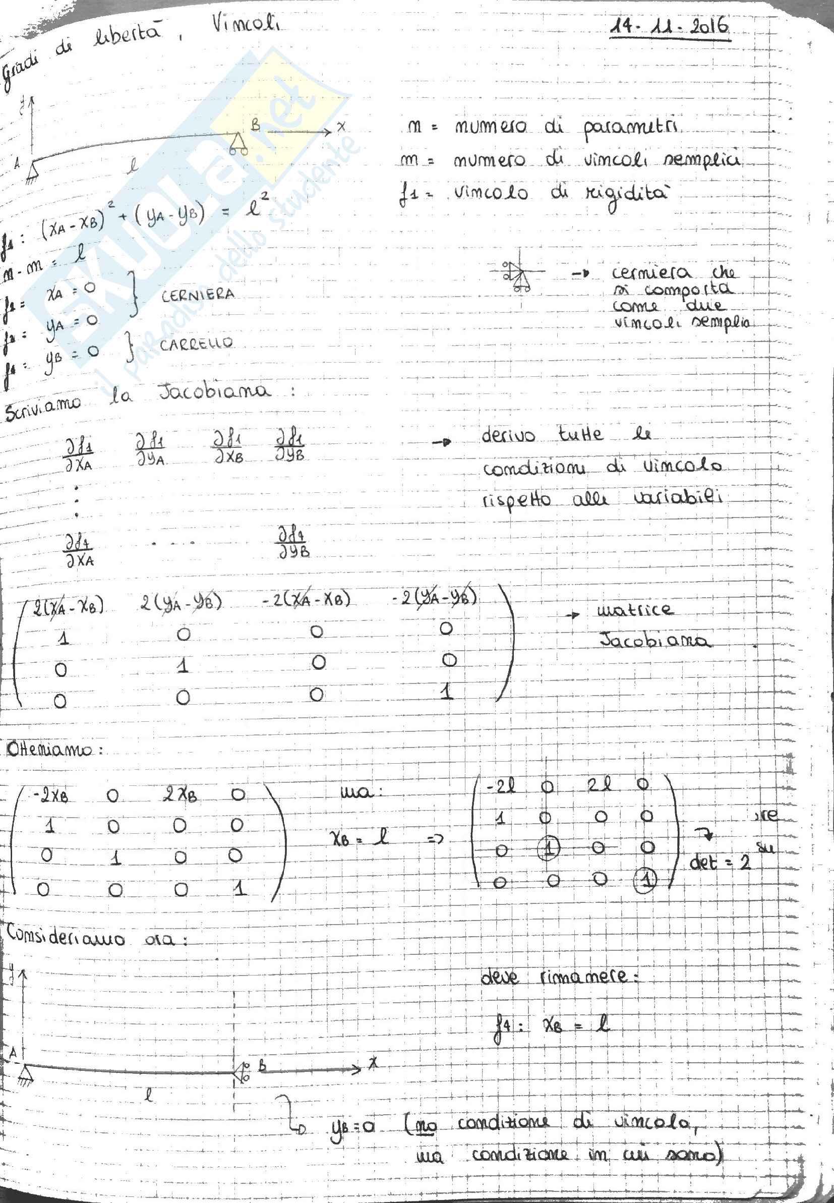 Meccanica Razionale - Statica - Appunti Pag. 16