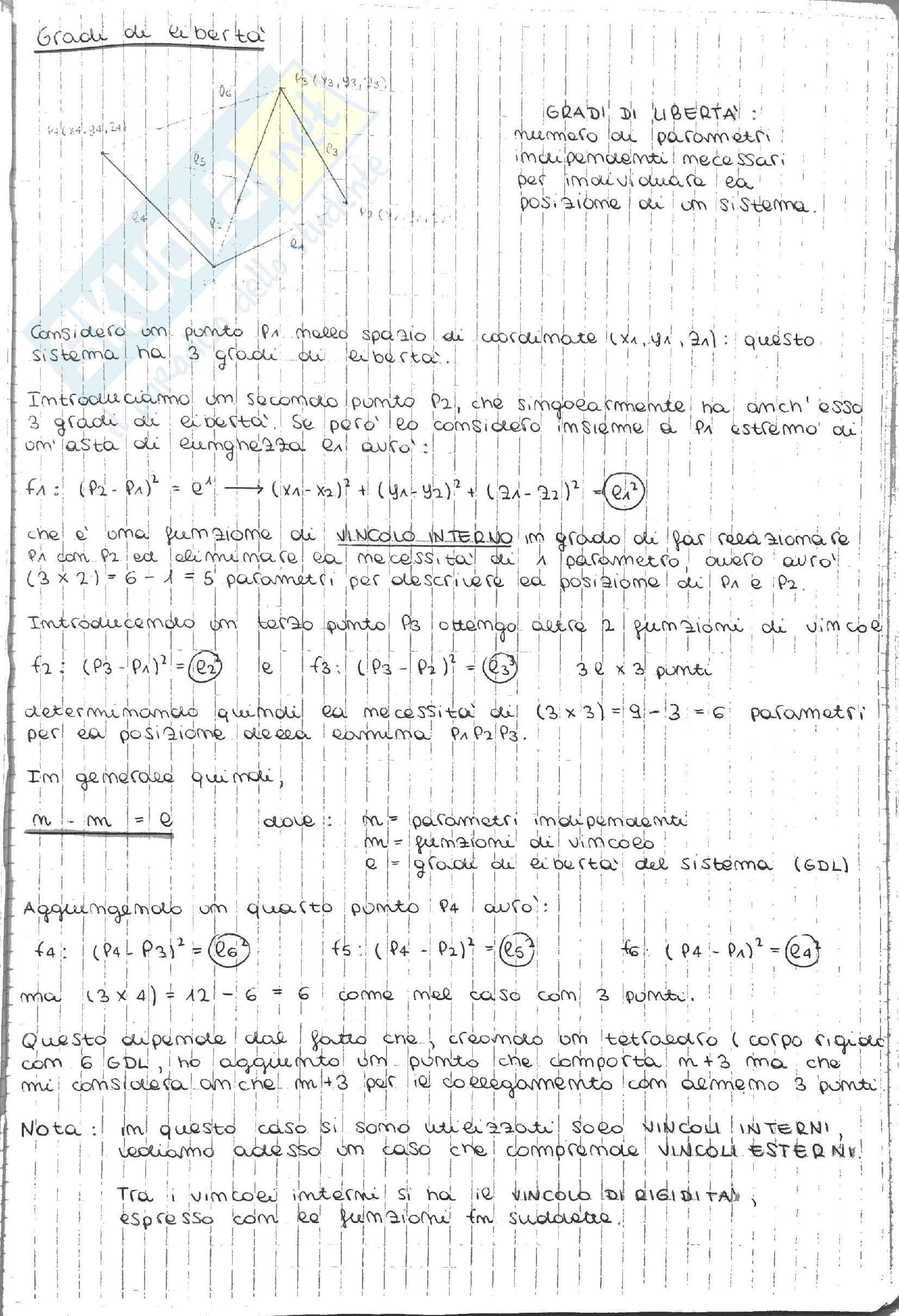 Meccanica Razionale - Statica - Appunti Pag. 21