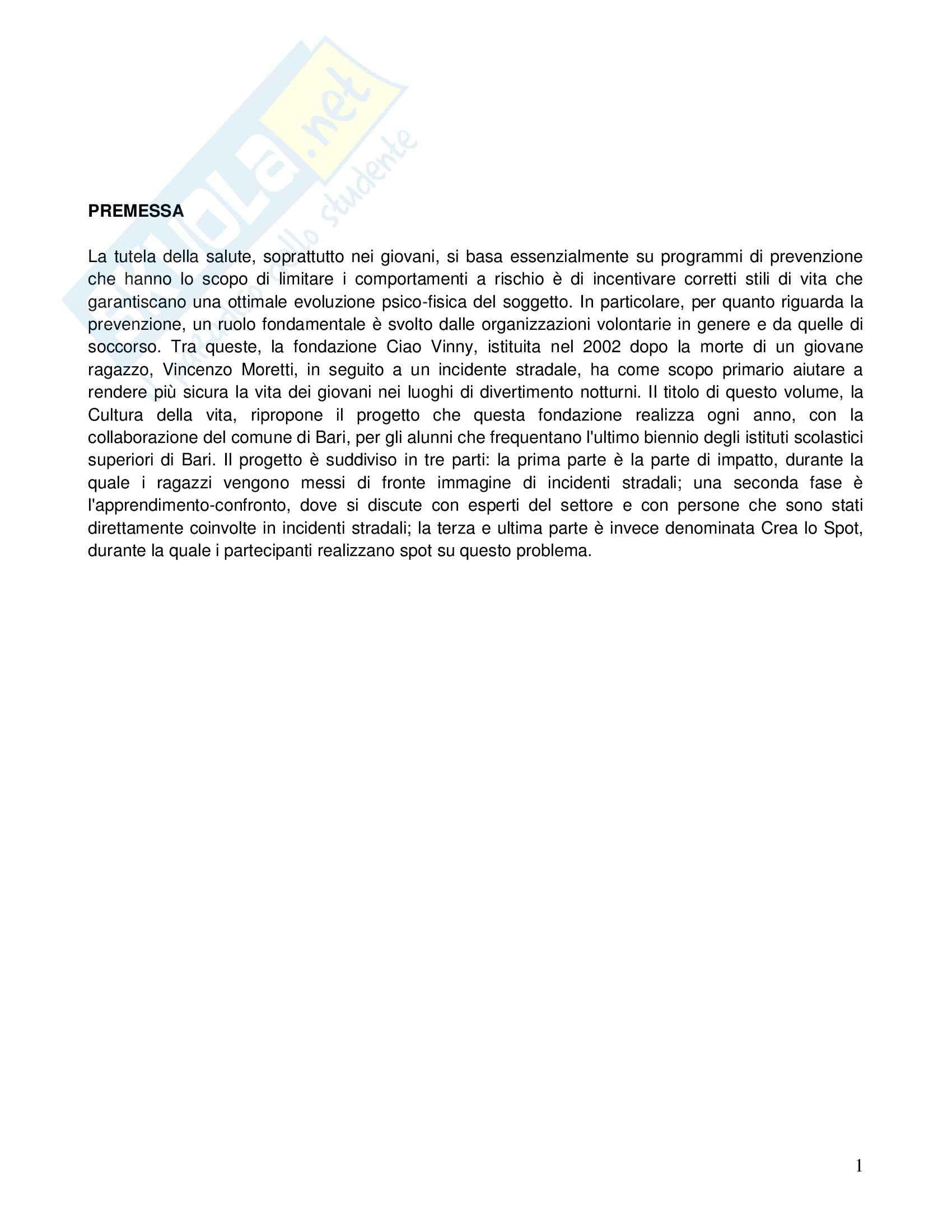 Riassunto esame Demografia, prof. Da Molin, libro consigliato Cultura della vita. Indagini sociodemogragiche sui giovani