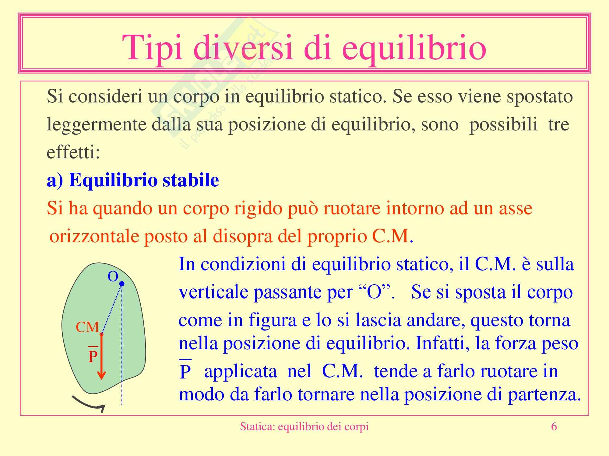Fisica medica - statica equilibrio dei corpi Pag. 6