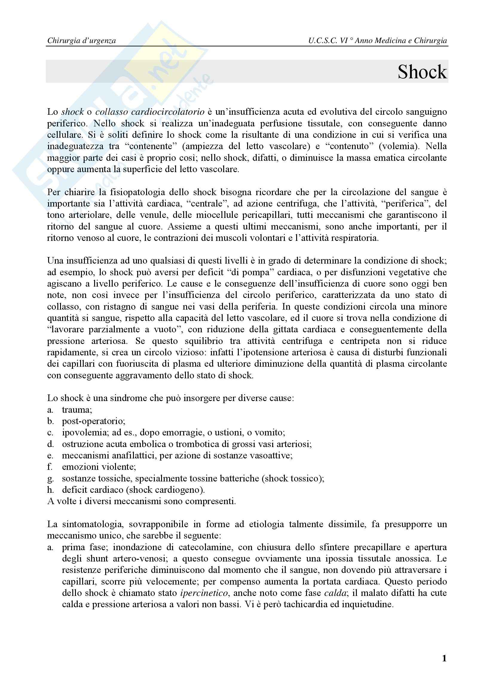 Chirurgia generale - chirurgia d'urgenza Pag. 1