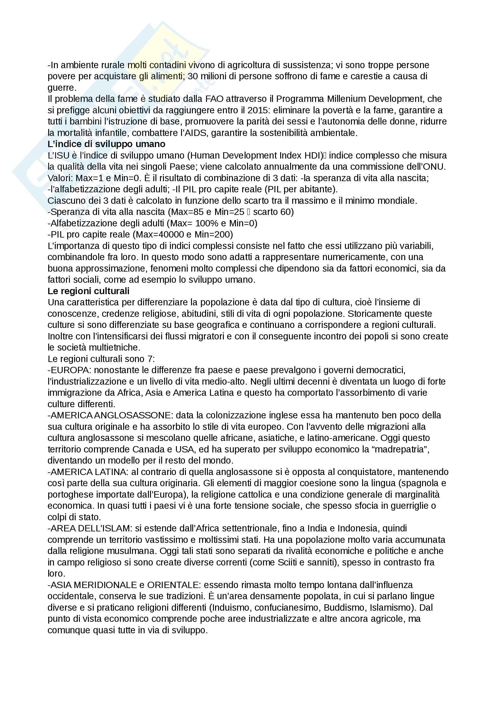 """Riassunto esame Geografia economica, Prof Romei, libro consigliato """"Geografia dell'economia mondiale"""", Dematteis Pag. 11"""