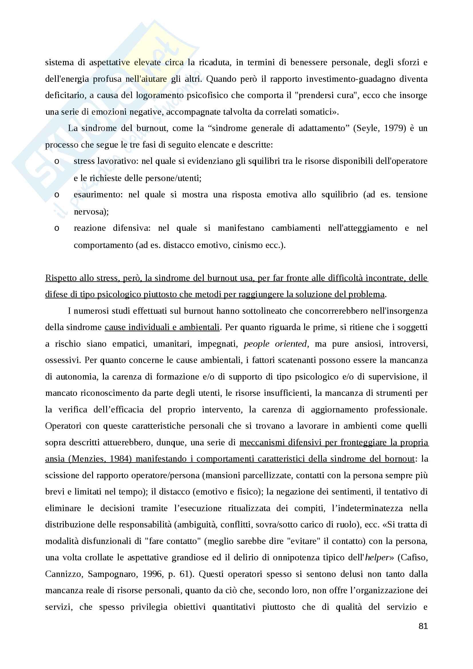 """Riassunto esame Metodi e tecniche del servizio sociale, prof.ssa Rizzo, libro adottato """"Assistenti sociali professionisti"""", Annamaria Zilianti, Beatrice Rovai Pag. 81"""