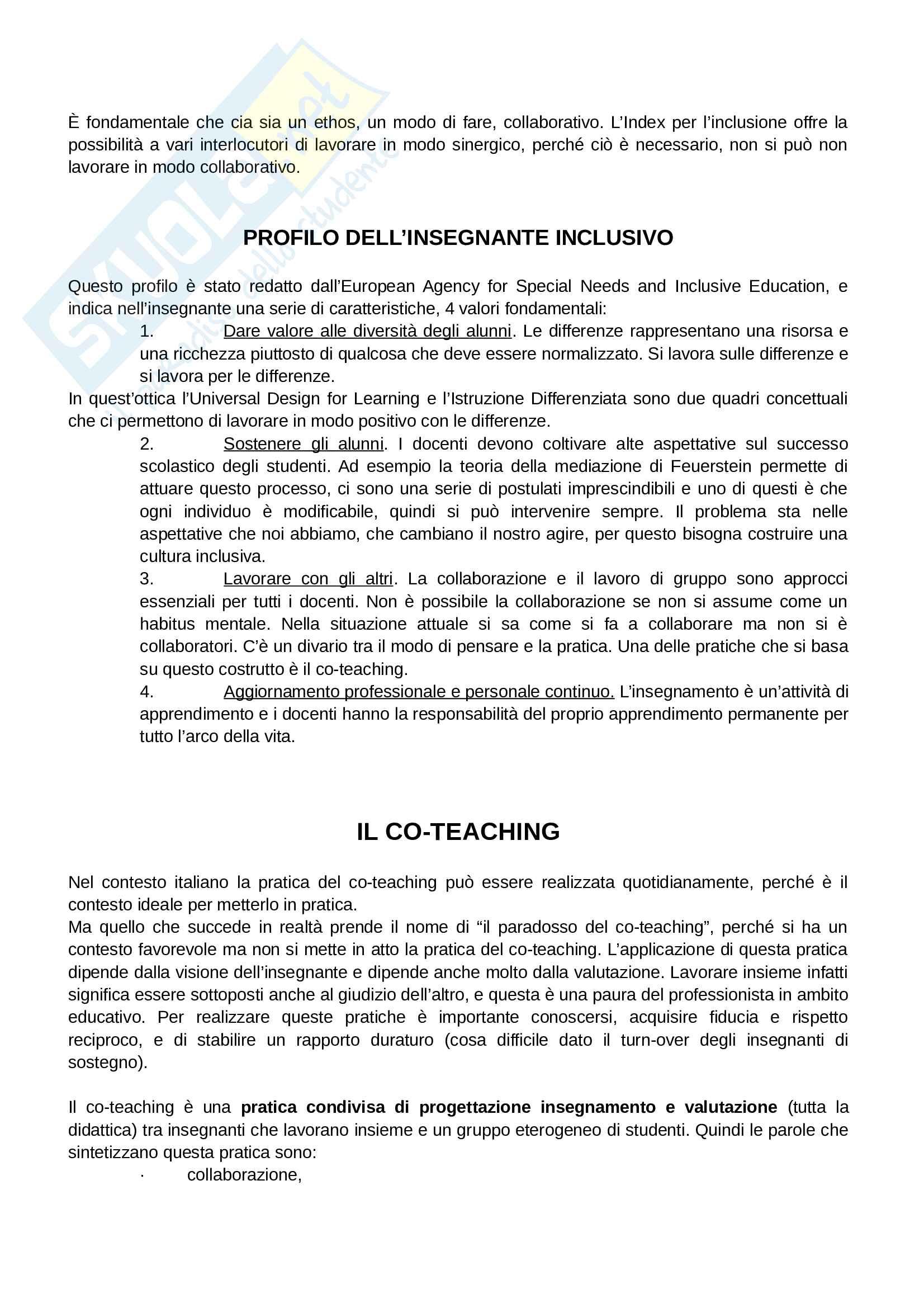 Appunti di Didattica dell'inclusione Pag. 11