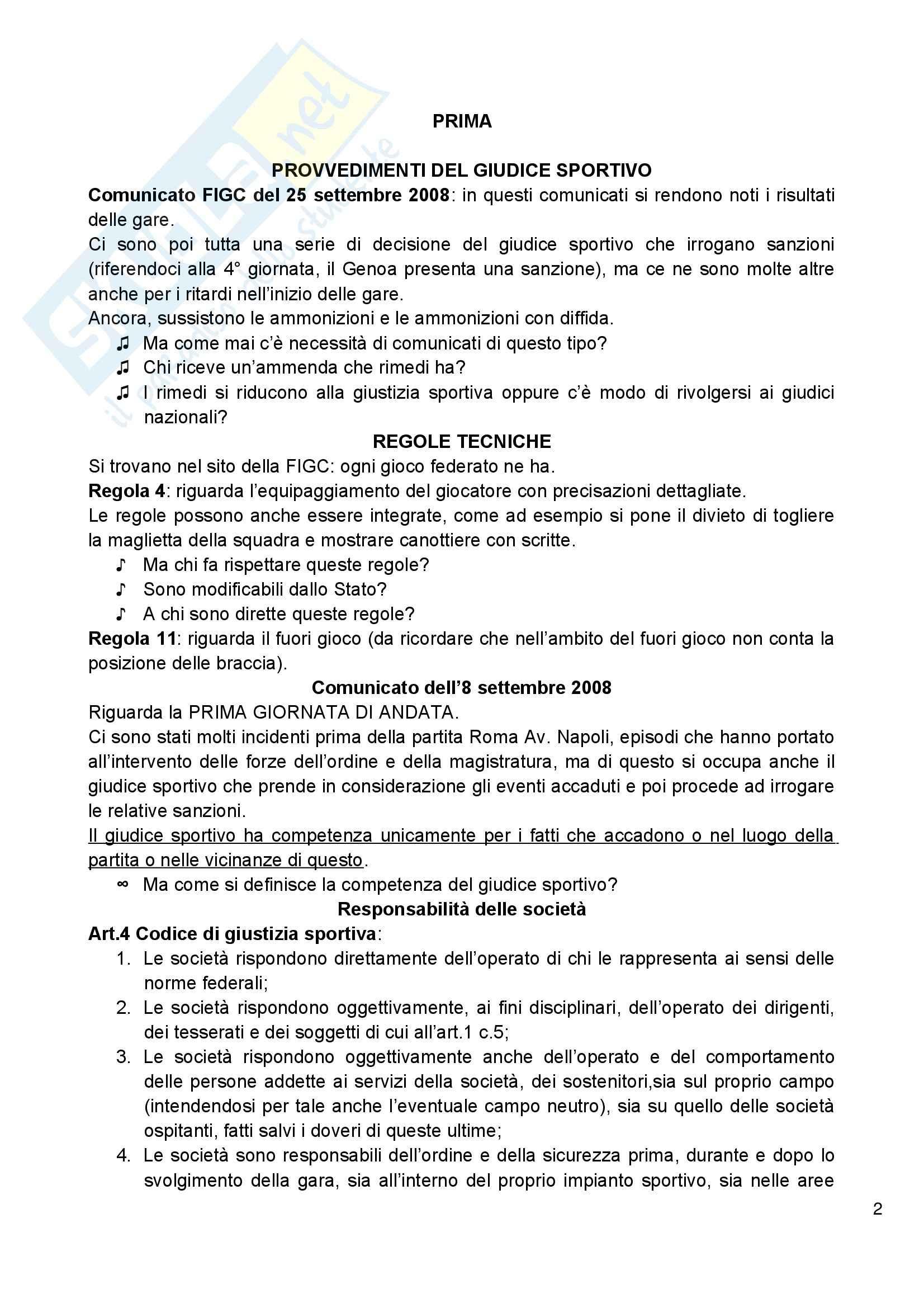 Diritto amministrativo dello sport - Appunti Pag. 2