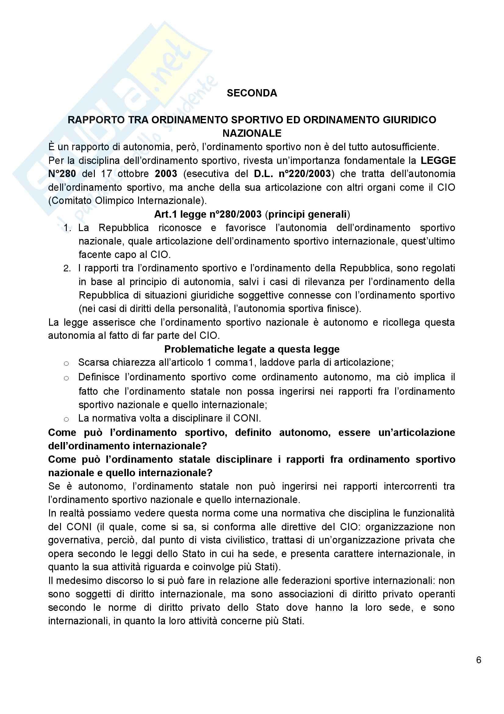 Diritto amministrativo dello sport - Appunti Pag. 6