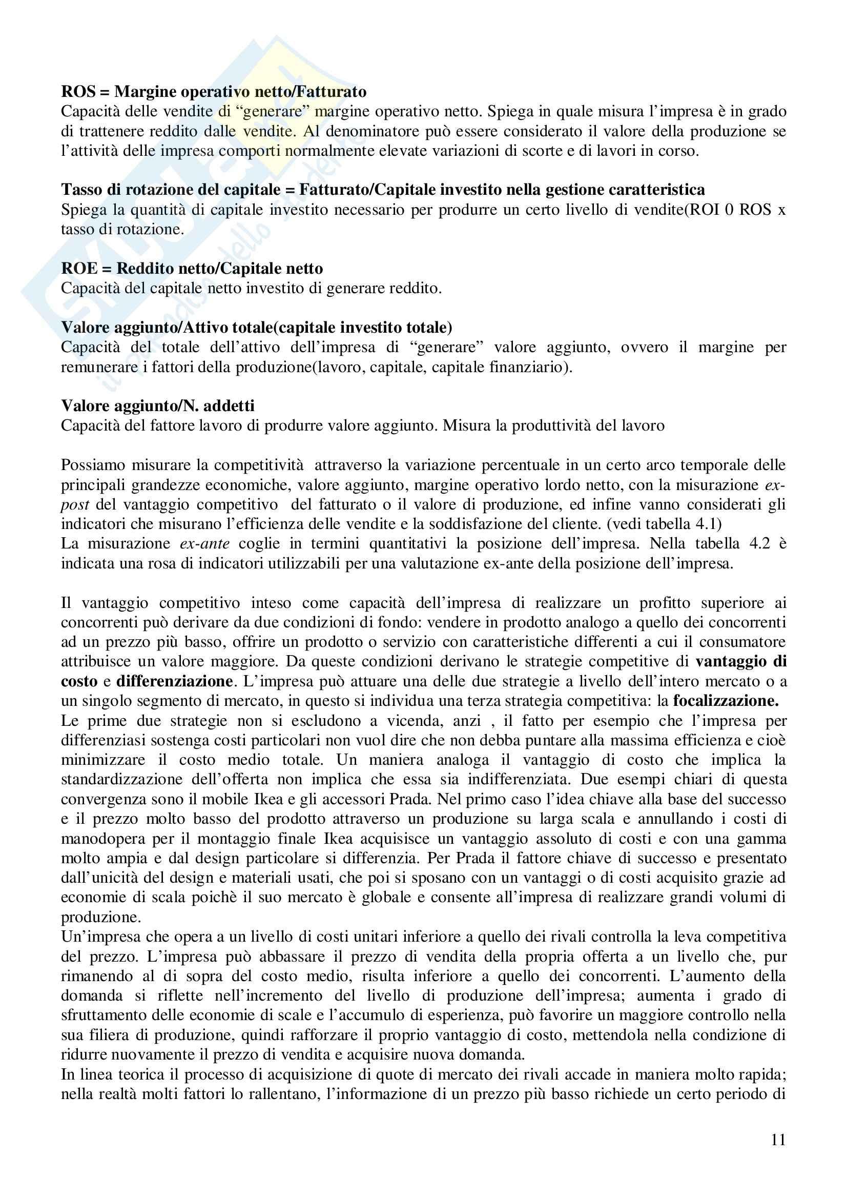Riassunto esame Economia e Gestione delle Imprese, prof. Gatti, libro consigliato Economia e Gestione delle Imprese, Fontana, Caroli Pag. 11