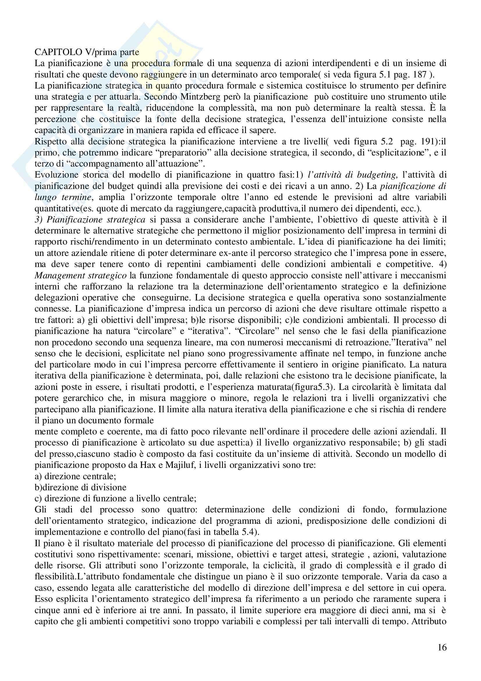 Riassunto esame Economia e Gestione delle Imprese, prof. Gatti, libro consigliato Economia e Gestione delle Imprese, Fontana, Caroli Pag. 16
