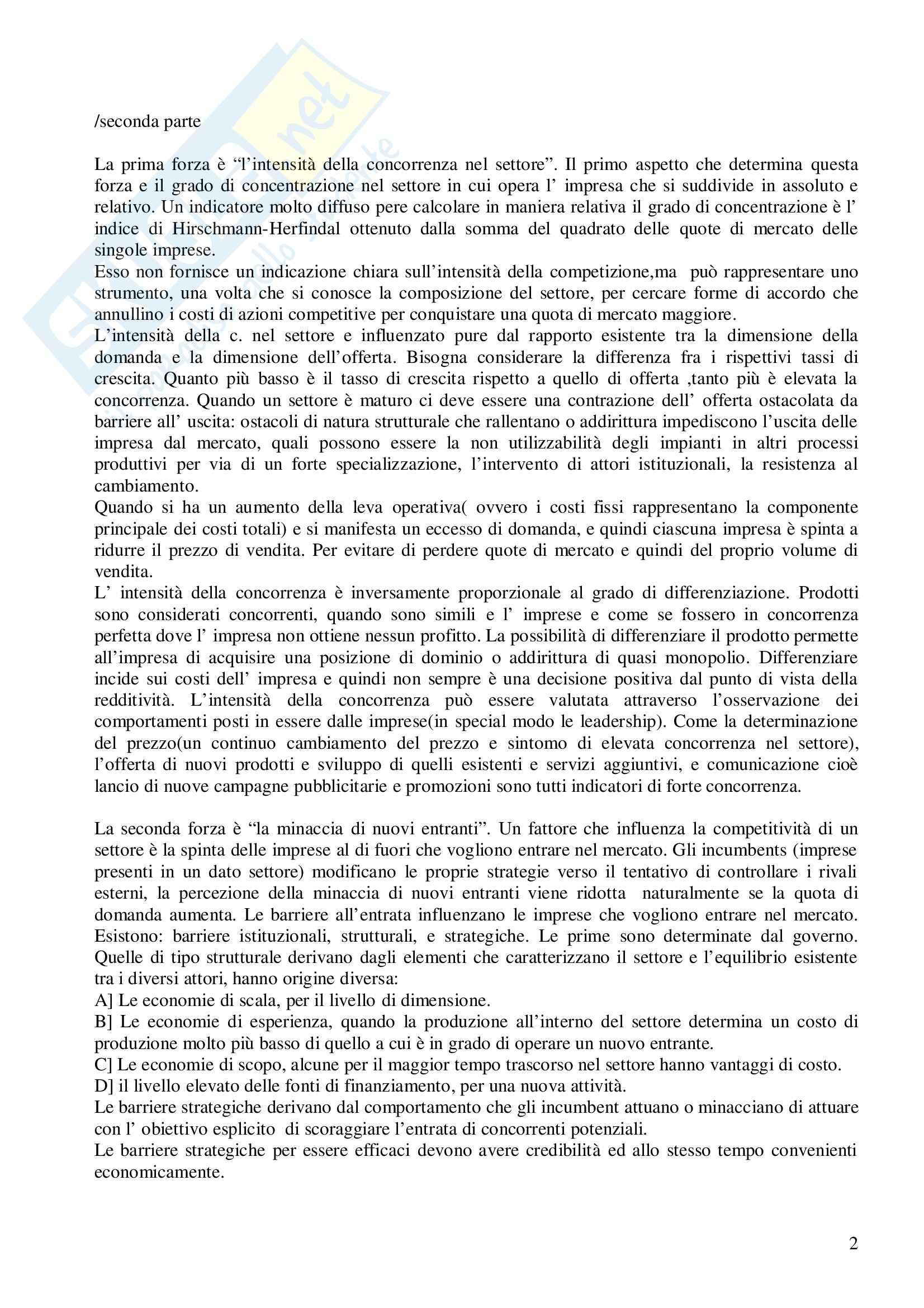 Riassunto esame Economia e Gestione delle Imprese, prof. Gatti, libro consigliato Economia e Gestione delle Imprese, Fontana, Caroli Pag. 2