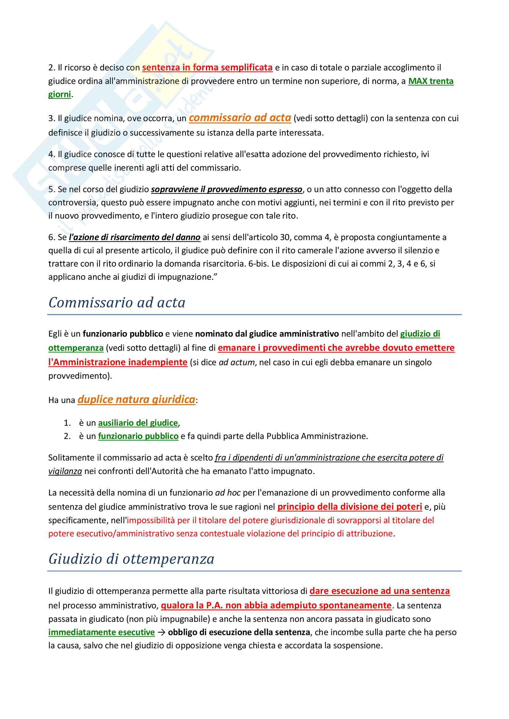 Appunti Amministrativo 2 - Prof. Acquarone + Domande esame tipiche Pag. 11