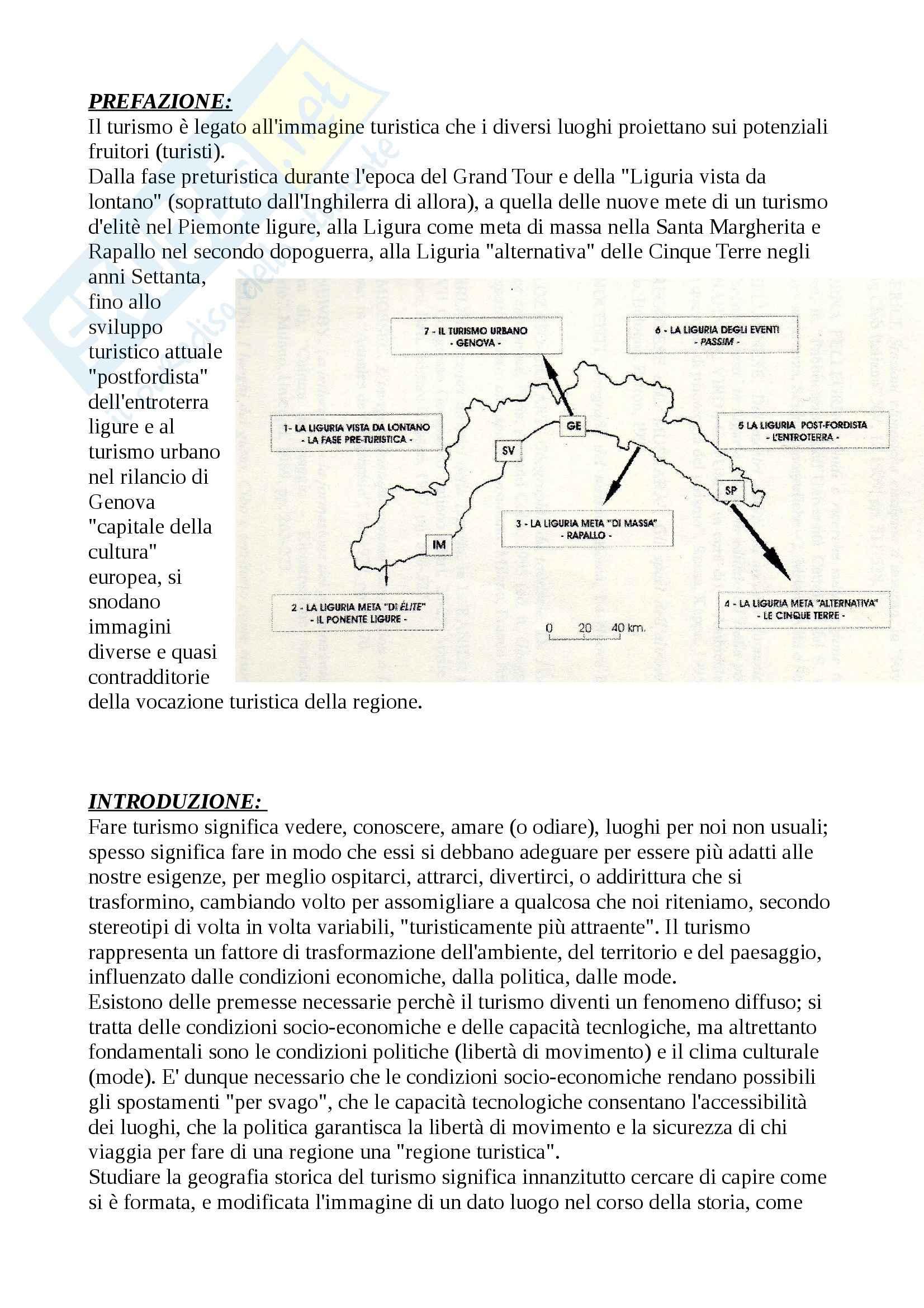 Riassunto esame Geografia del Turismo, prof. Bagnoli, libro consigliato Modi e Mode del Turismo in Liguria, Ruffini