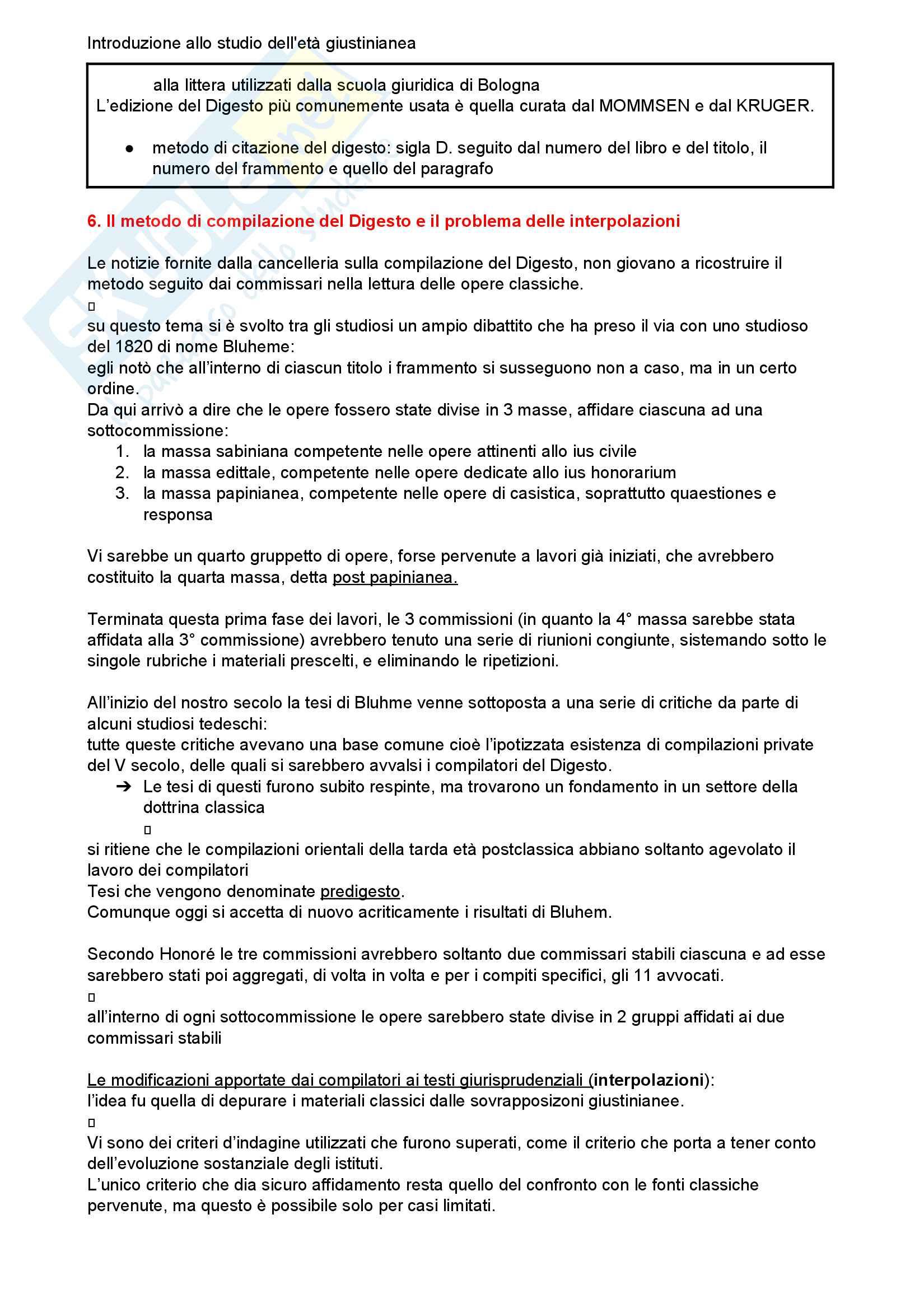 Riassunto esame storia del diritto romano, Prof. Luchetti, libro consigliato Introduzione allo studio dell'età giustinianea Pag. 6