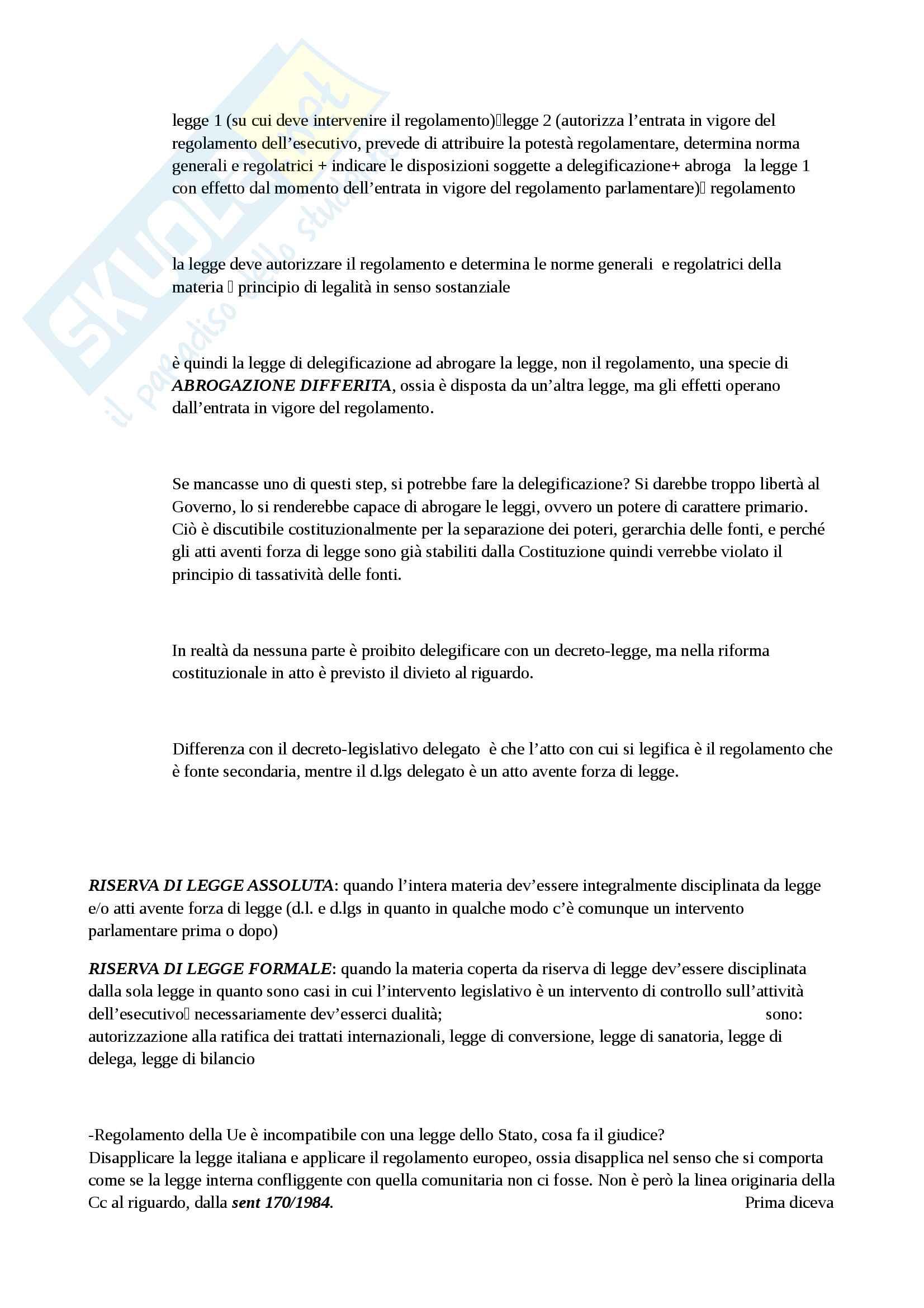 Diritto costituzionale, dalla definizione di ordinamento giuridico allo studio specifico dell'ordinamento giuridico italiano Pag. 91