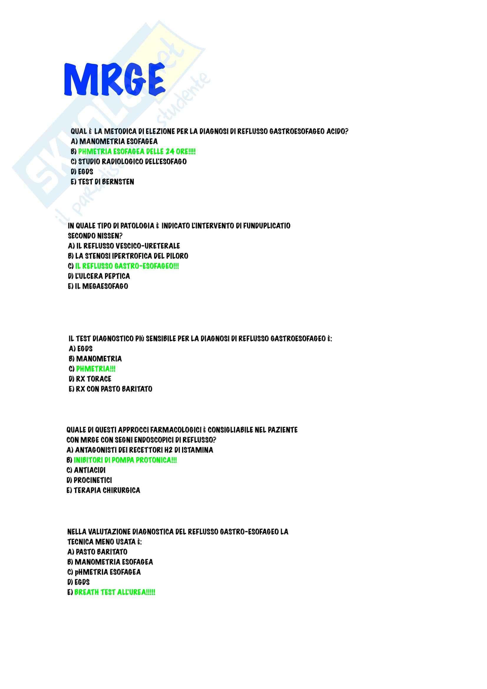 Gastroenterologia - Malattie dell'esofago Pag. 16