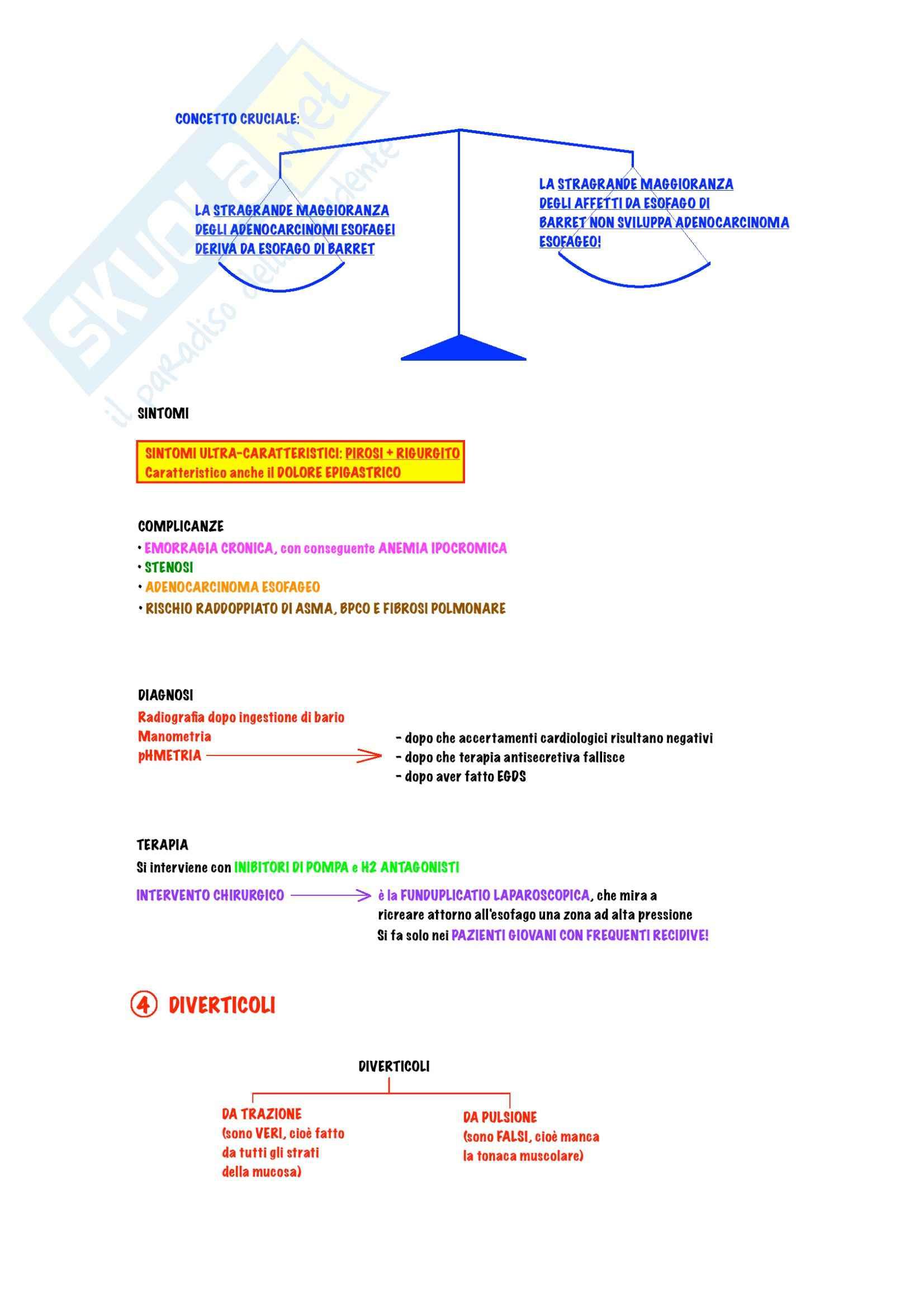 Gastroenterologia - Malattie dell'esofago Pag. 6