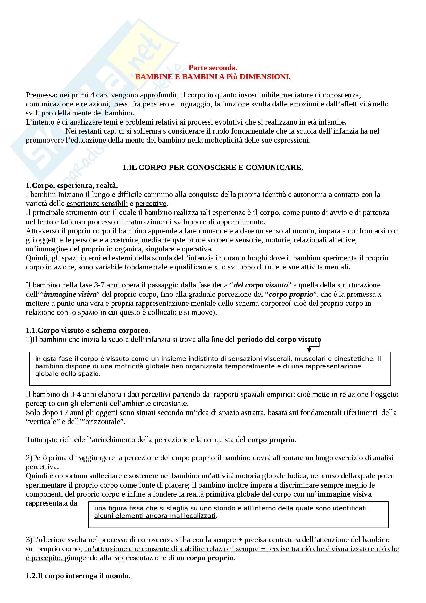 Riassunto esame Didattica generale, prof. Isidori, libro consigliato La scuola dell'infanzia, Frabboni