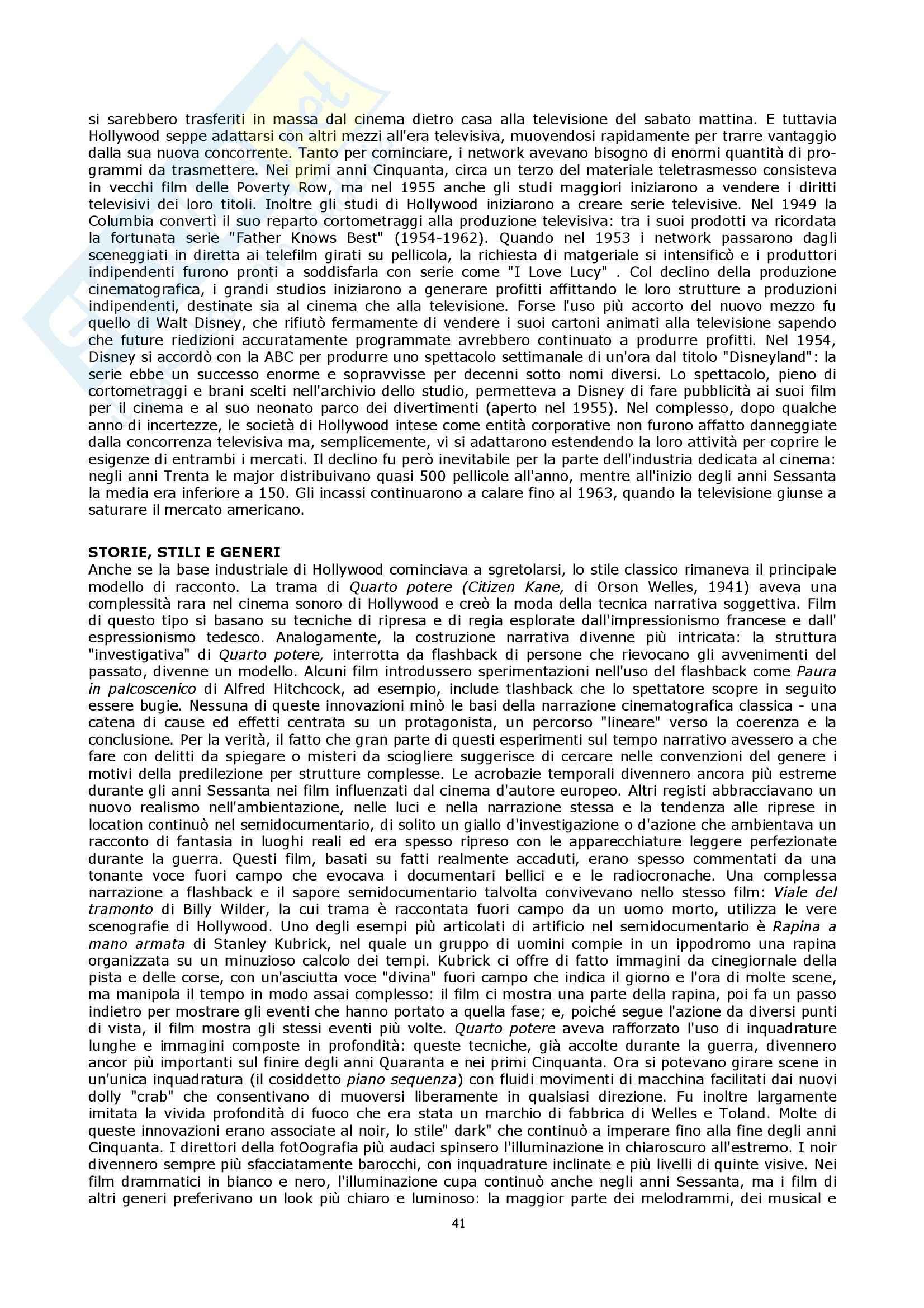 Semiologia del cinema - Bordwell storia del cinema Pag. 41