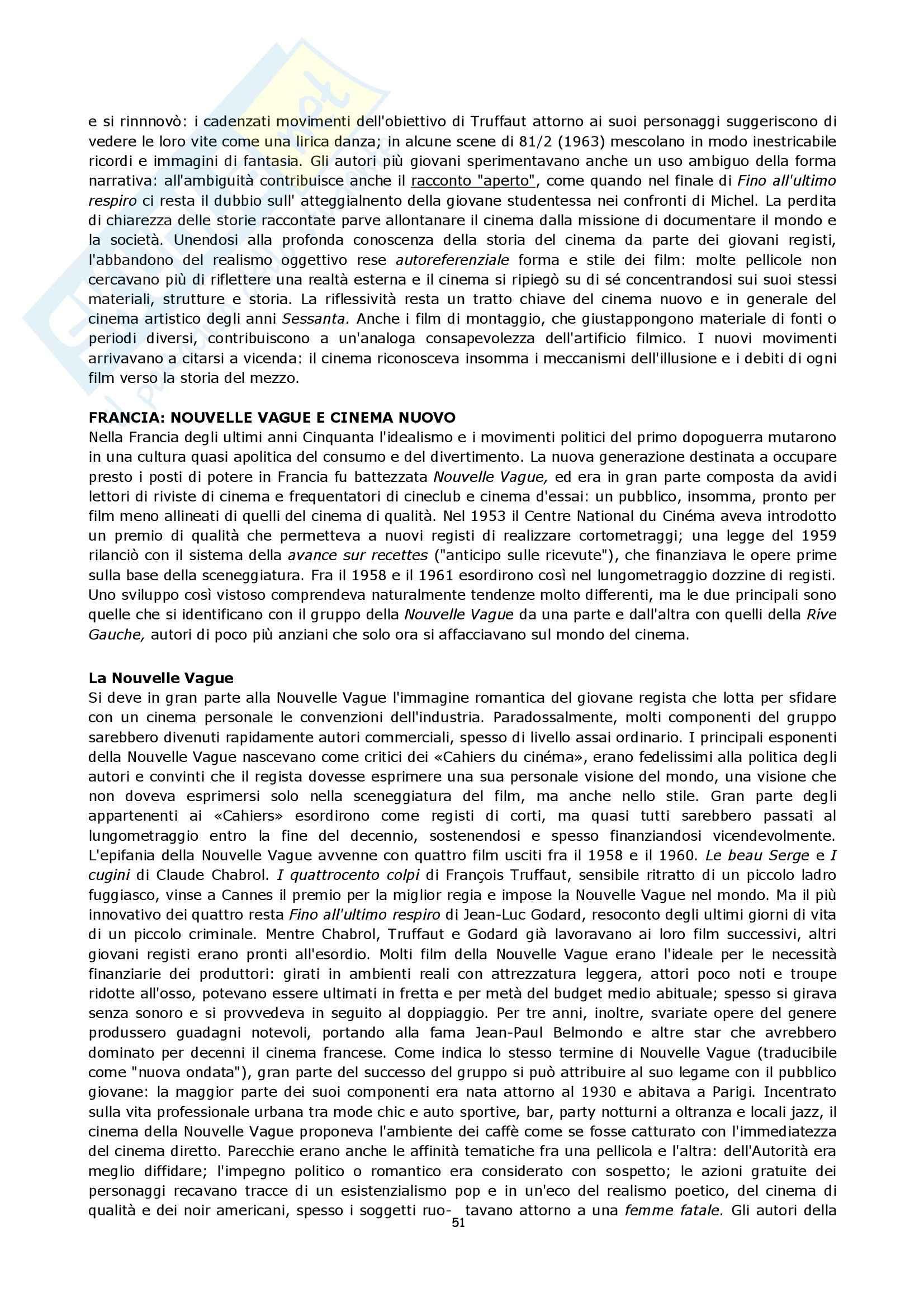 Semiologia del cinema - Bordwell storia del cinema Pag. 51