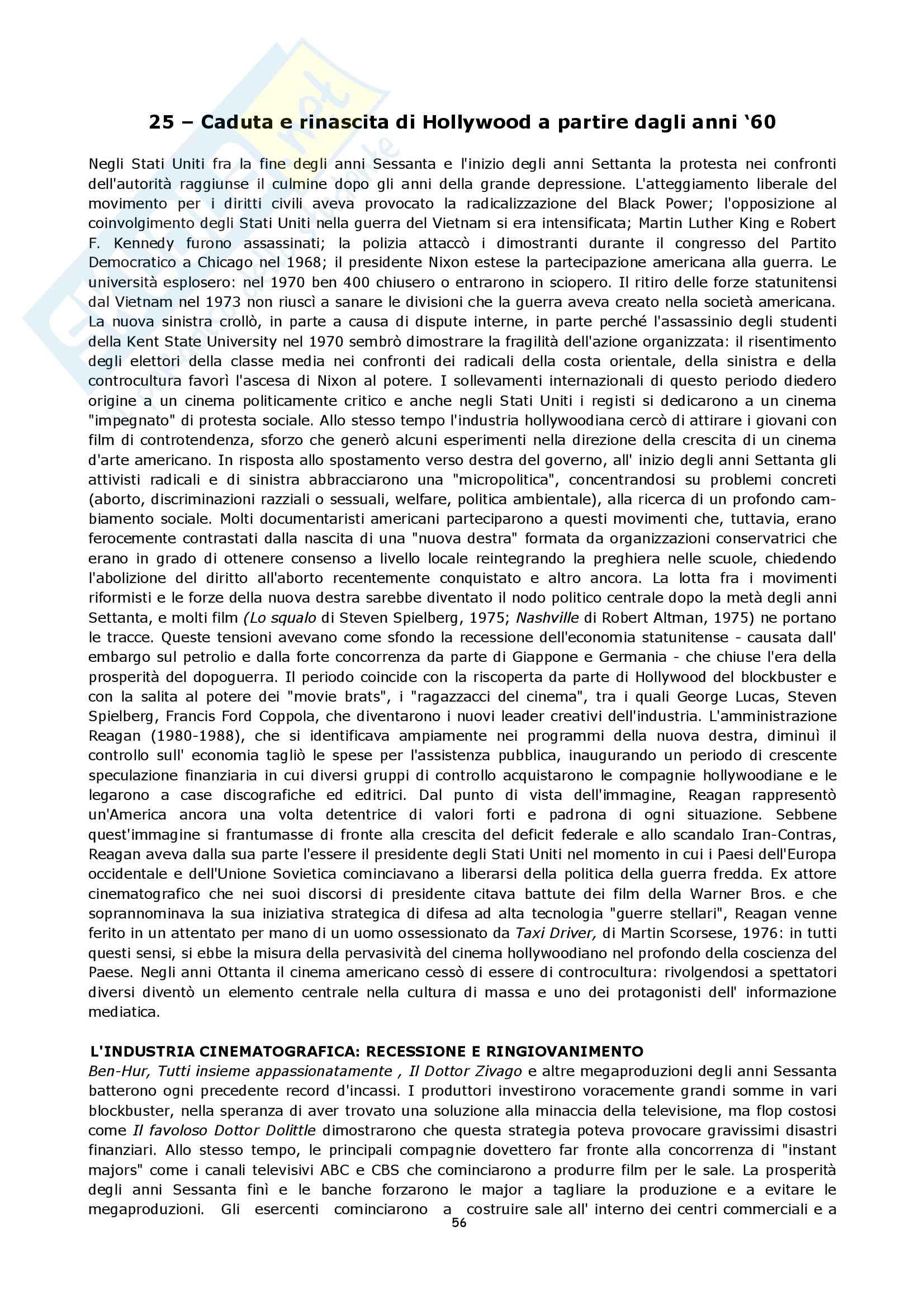 Semiologia del cinema - Bordwell storia del cinema Pag. 56