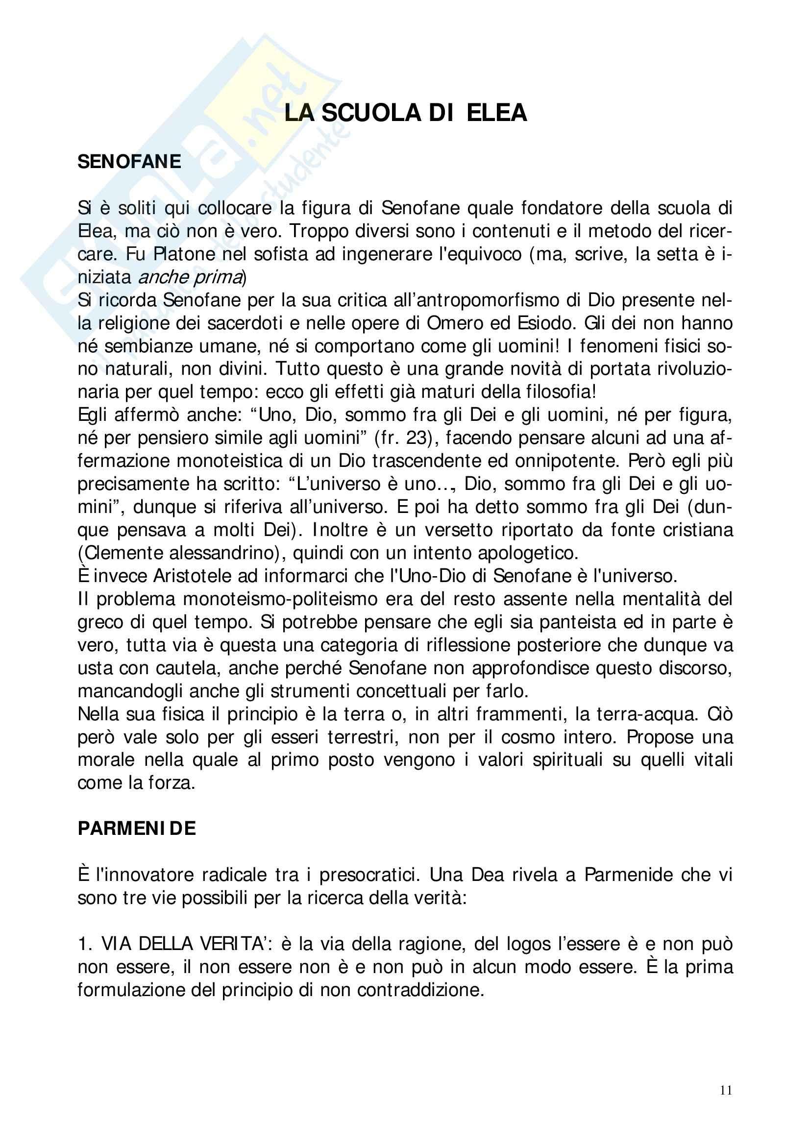 Riassunto esame Storia della Filosofia Antica, prof. Lapini, libro consigliato Storia della Filosofia Antica, Reale Pag. 11