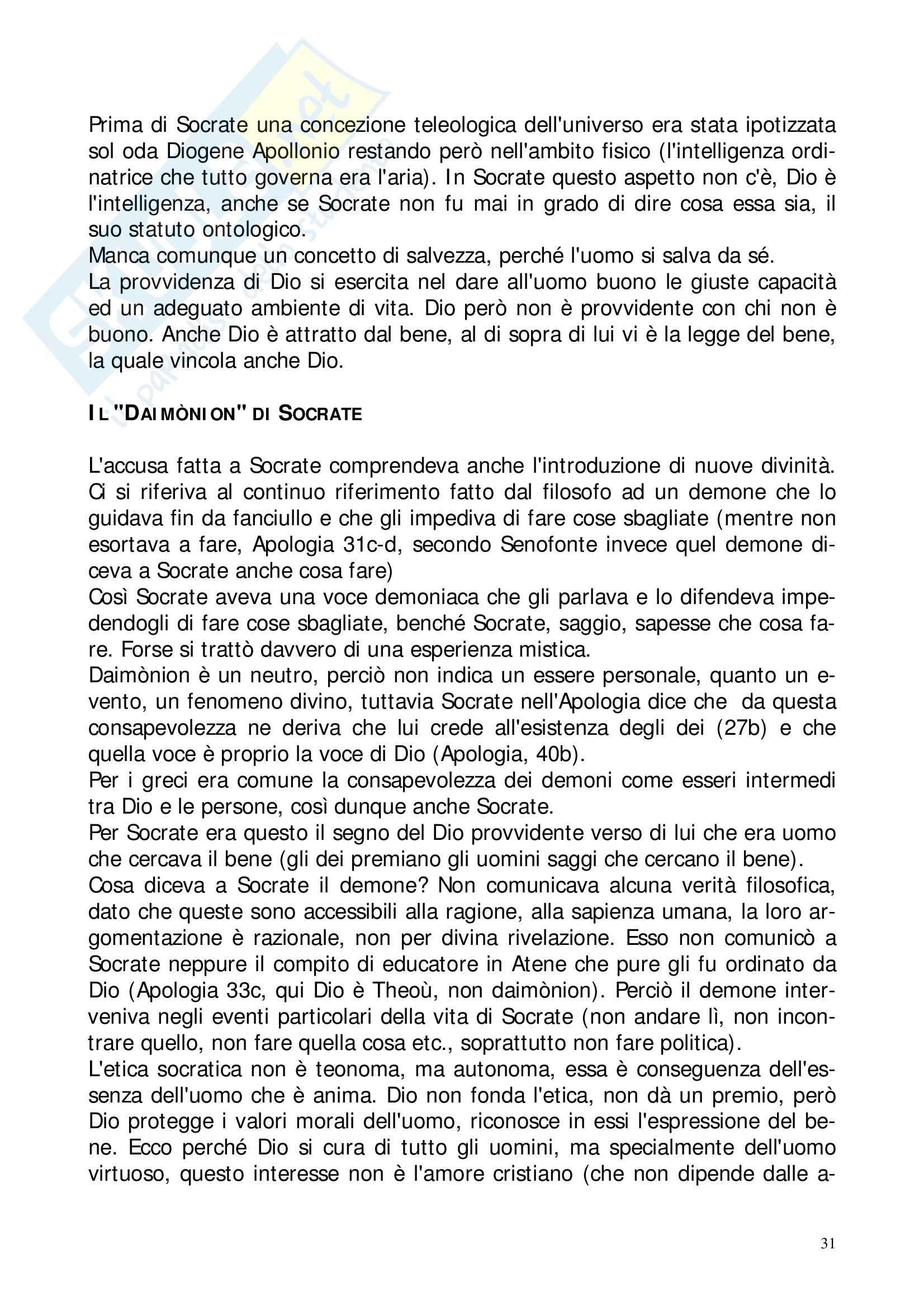 Riassunto esame Storia della Filosofia Antica, prof. Lapini, libro consigliato Storia della Filosofia Antica, Reale Pag. 31