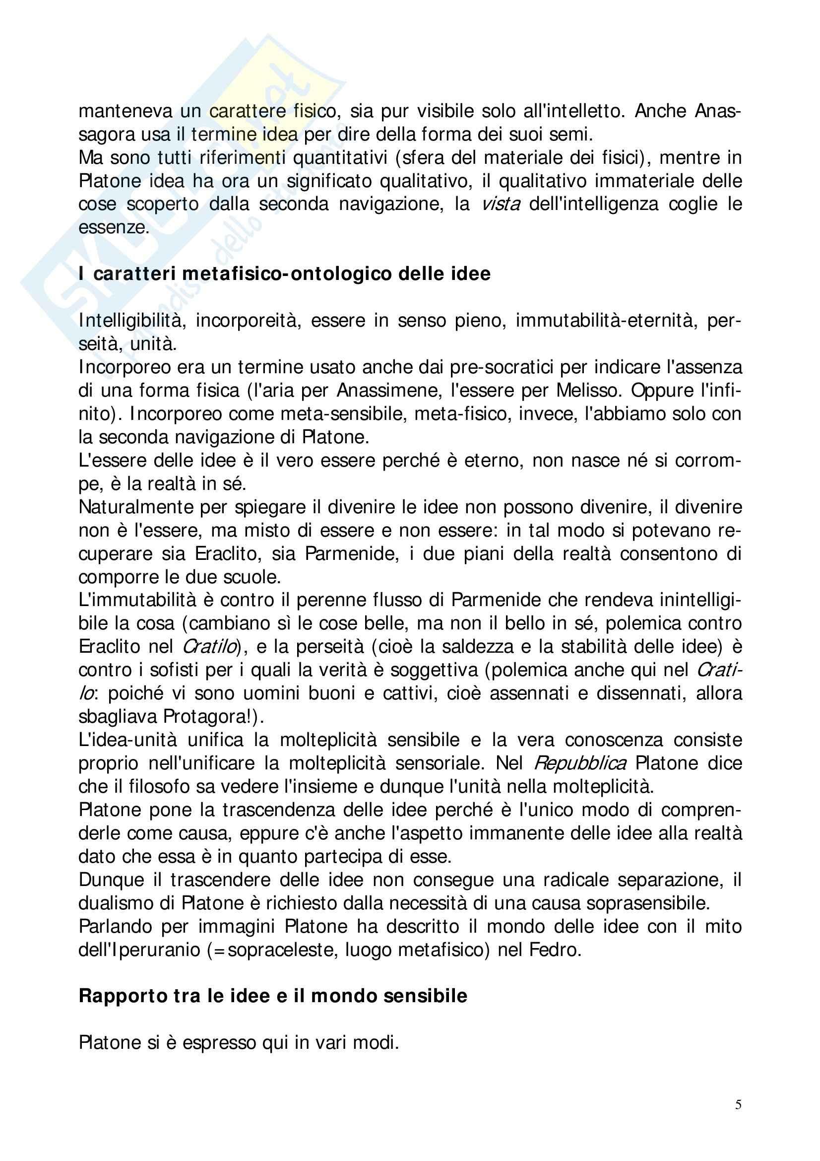 Riassunto esame Storia della Filosofia Antica, prof. Lapini, libro consigliato Storia della Filosofia Antica, Reale Pag. 46