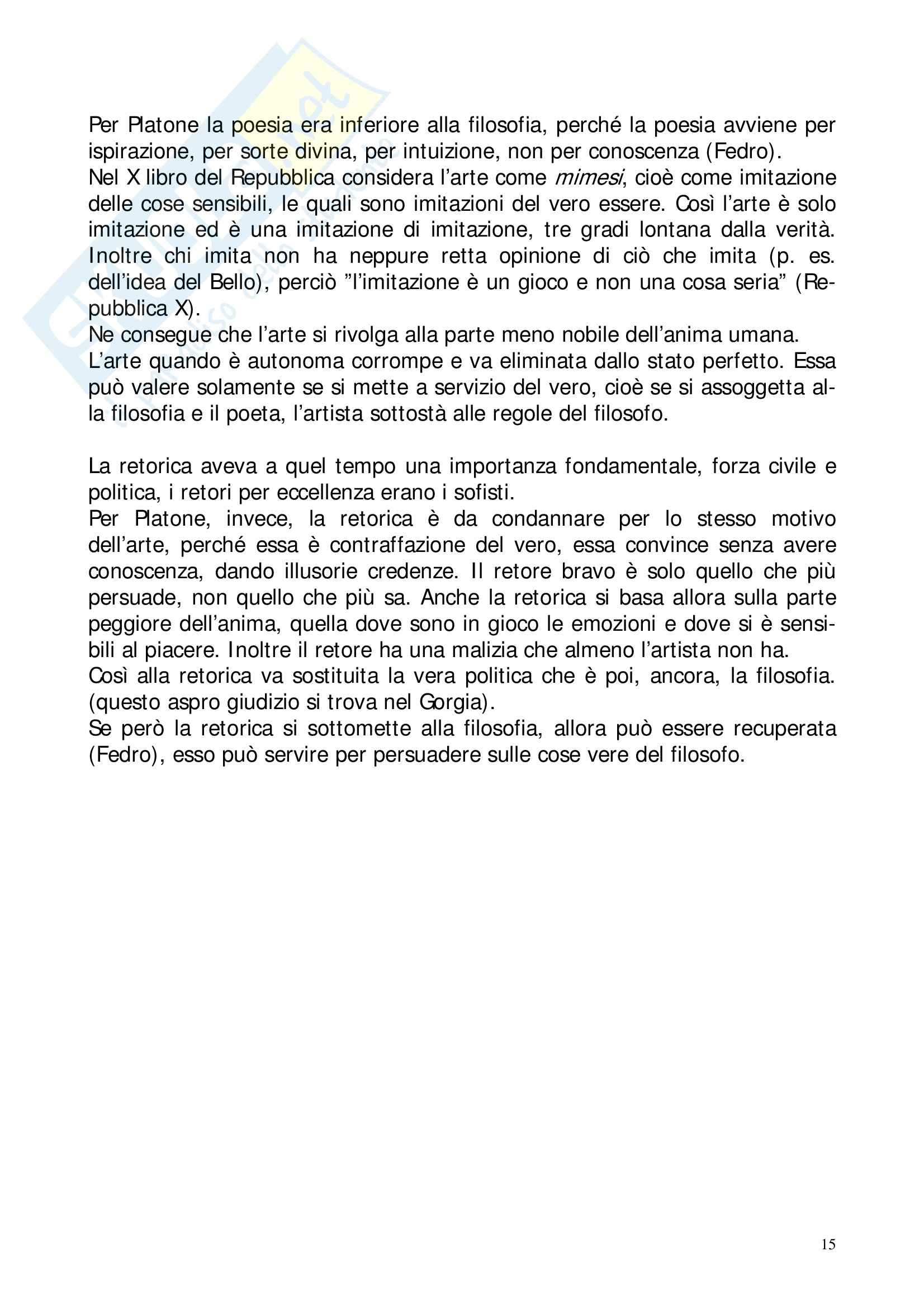 Riassunto esame Storia della Filosofia Antica, prof. Lapini, libro consigliato Storia della Filosofia Antica, Reale Pag. 56