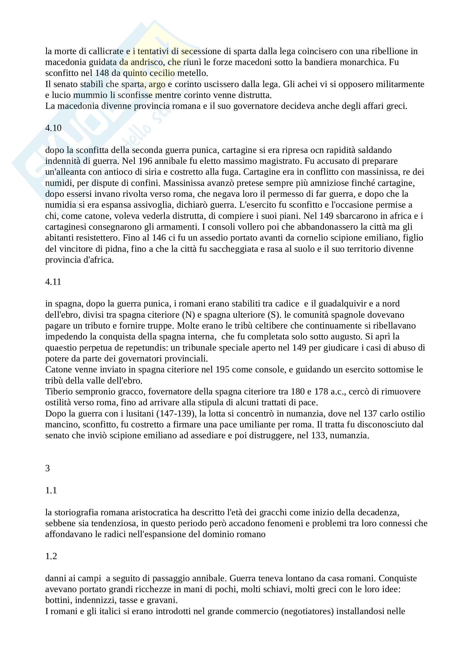 Riassunto esame Storia Romana, prof. Baldini, libro consigliato Storia Romana, Geraci, Marcone Pag. 16