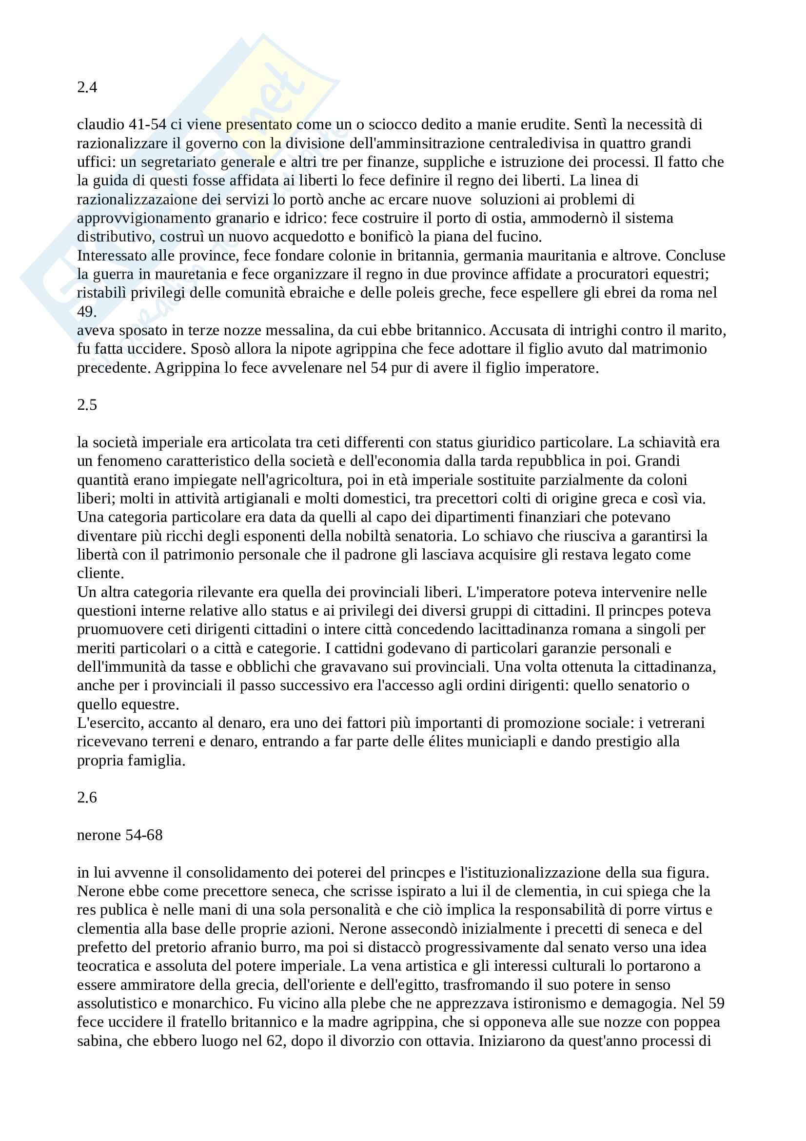 Riassunto esame Storia Romana, prof. Baldini, libro consigliato Storia Romana, Geraci, Marcone Pag. 31