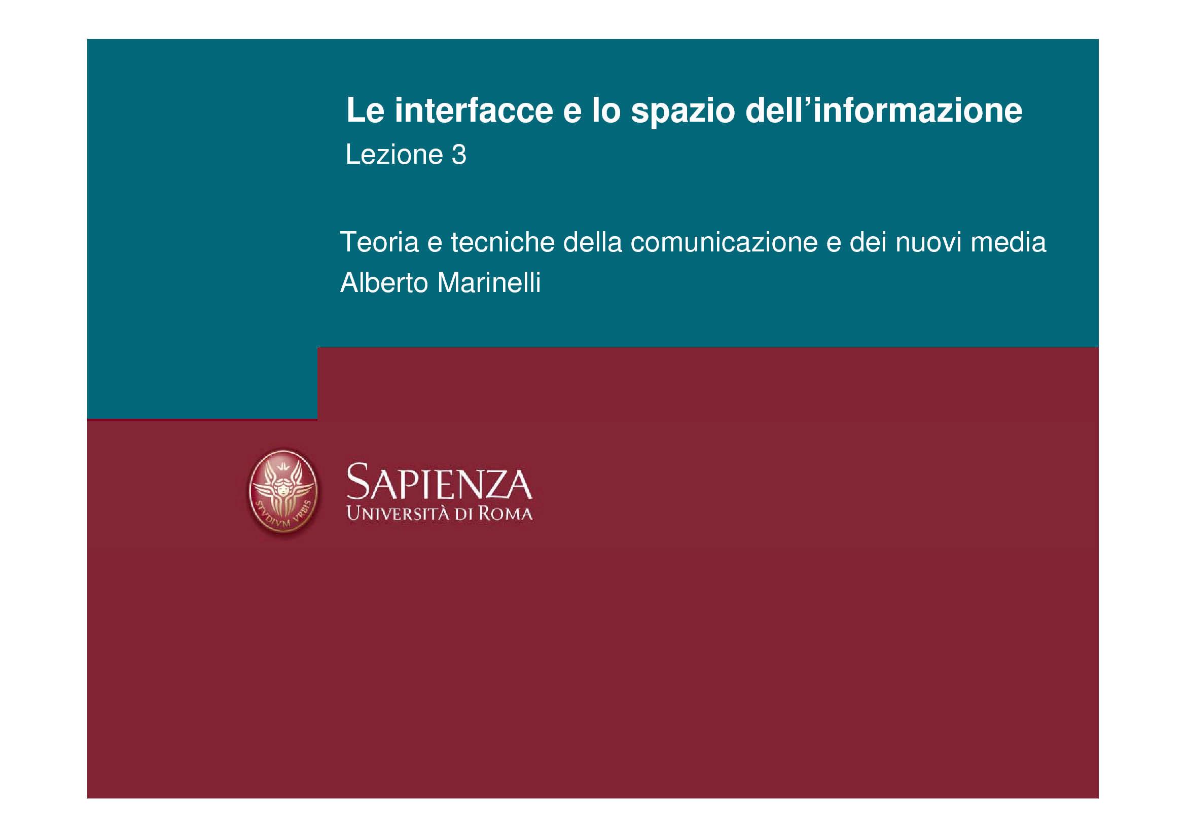 Informazione - Spazio e Interfacce