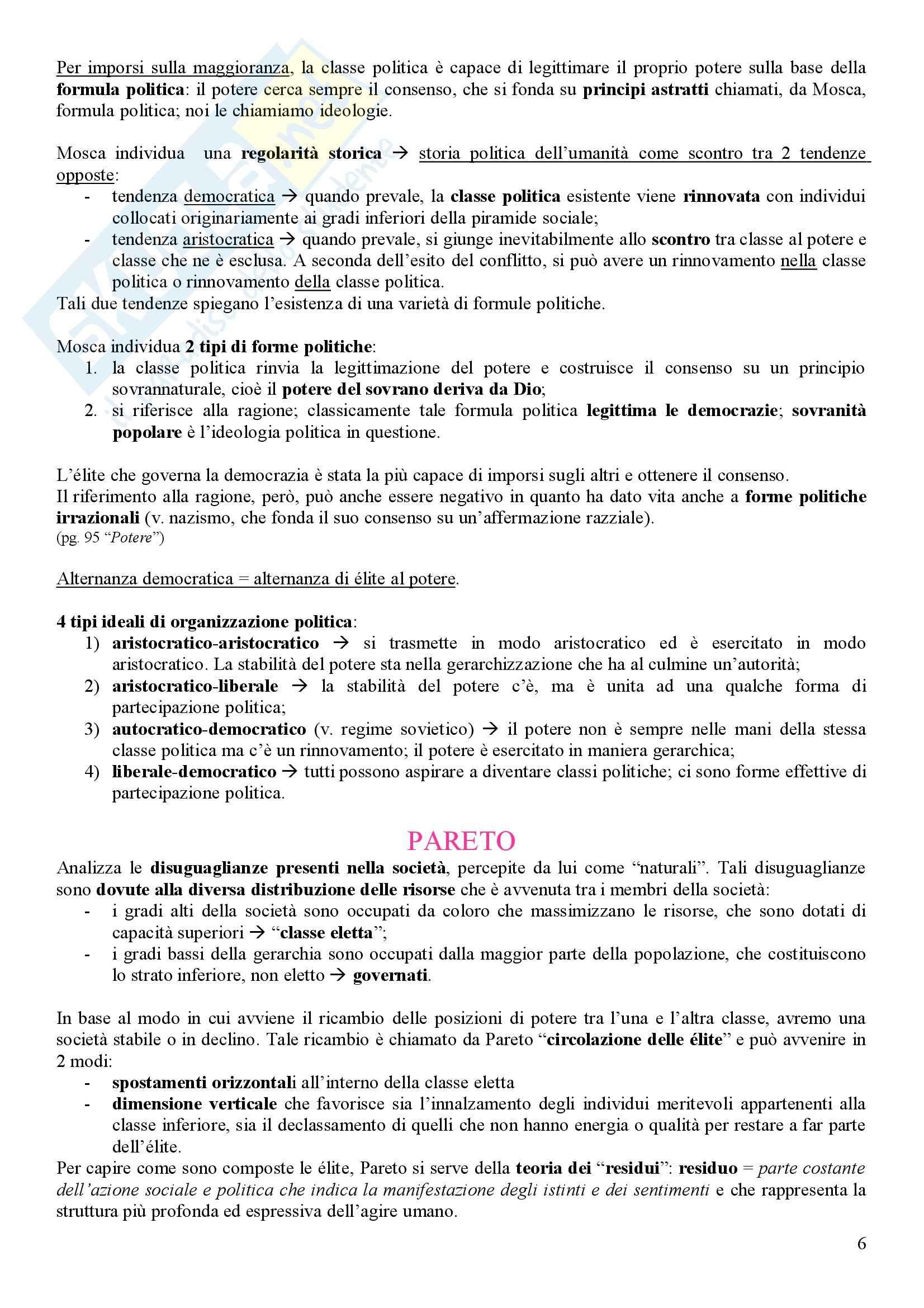 Il pensiero politico del 900 – Galli – Riassunto esame Pag. 6