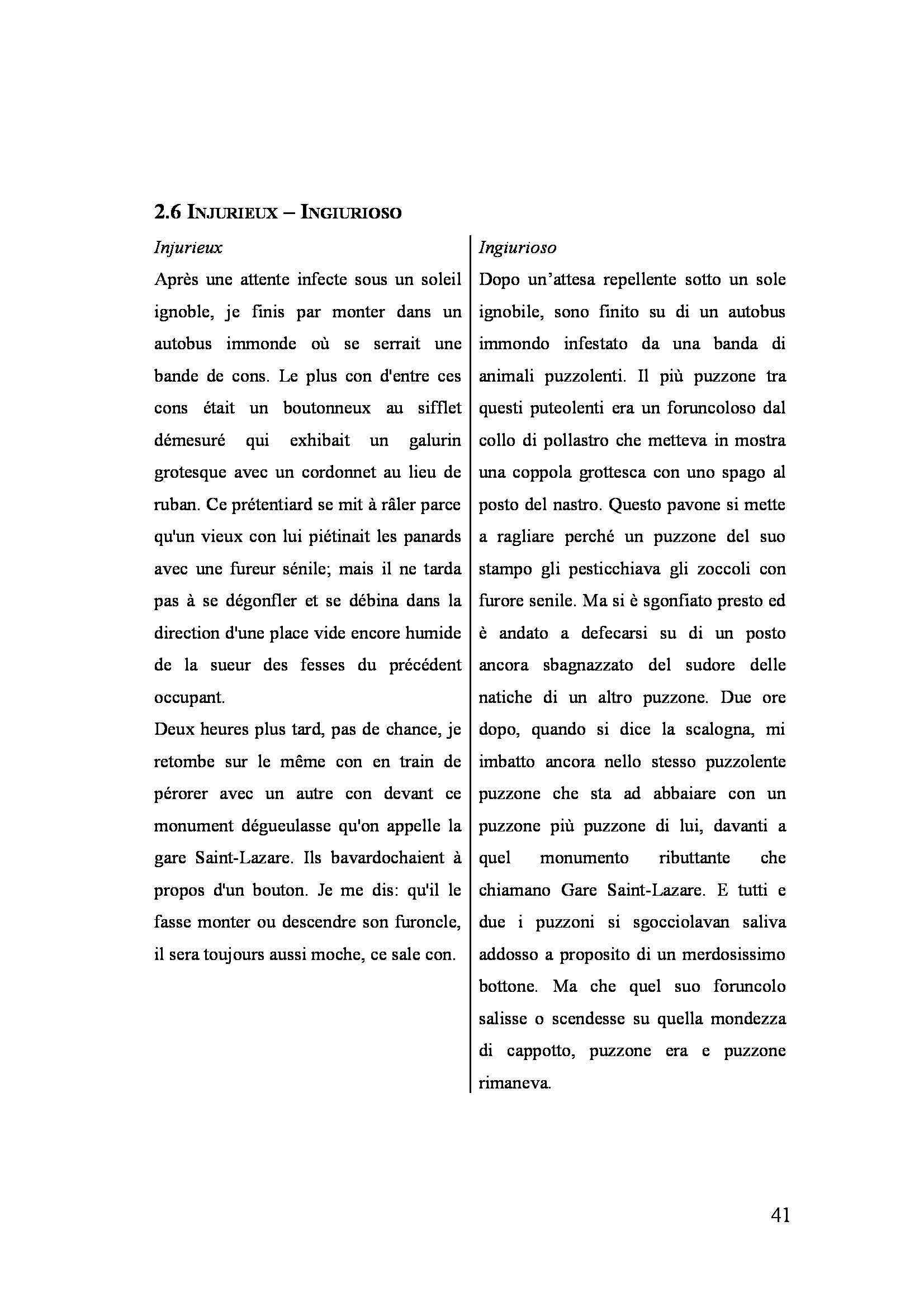 Tesi triennale - Gli Exercices de Style nella traduzione di Umberto Eco Pag. 41