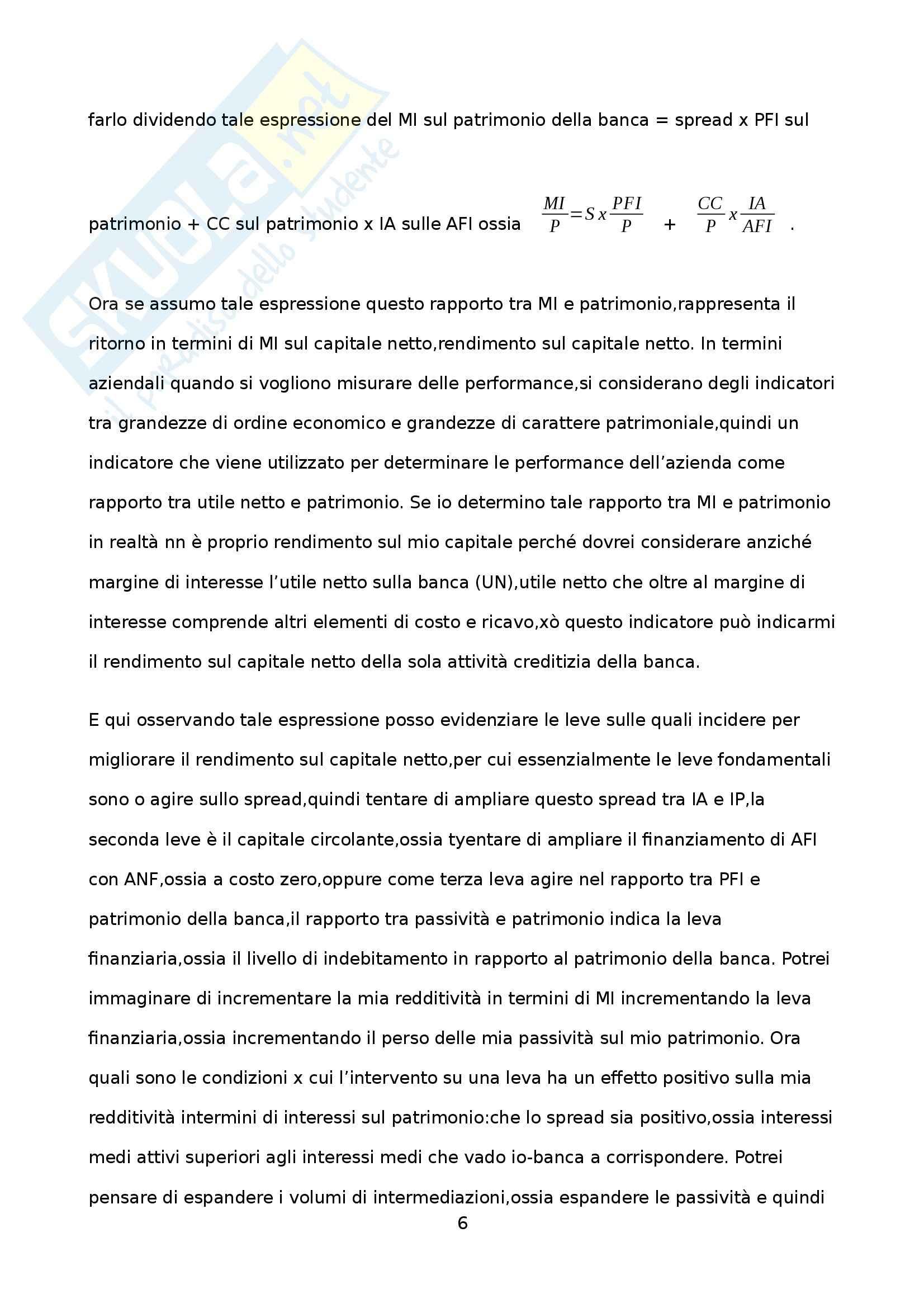 Economia degli intermediari - Appunti Pag. 6