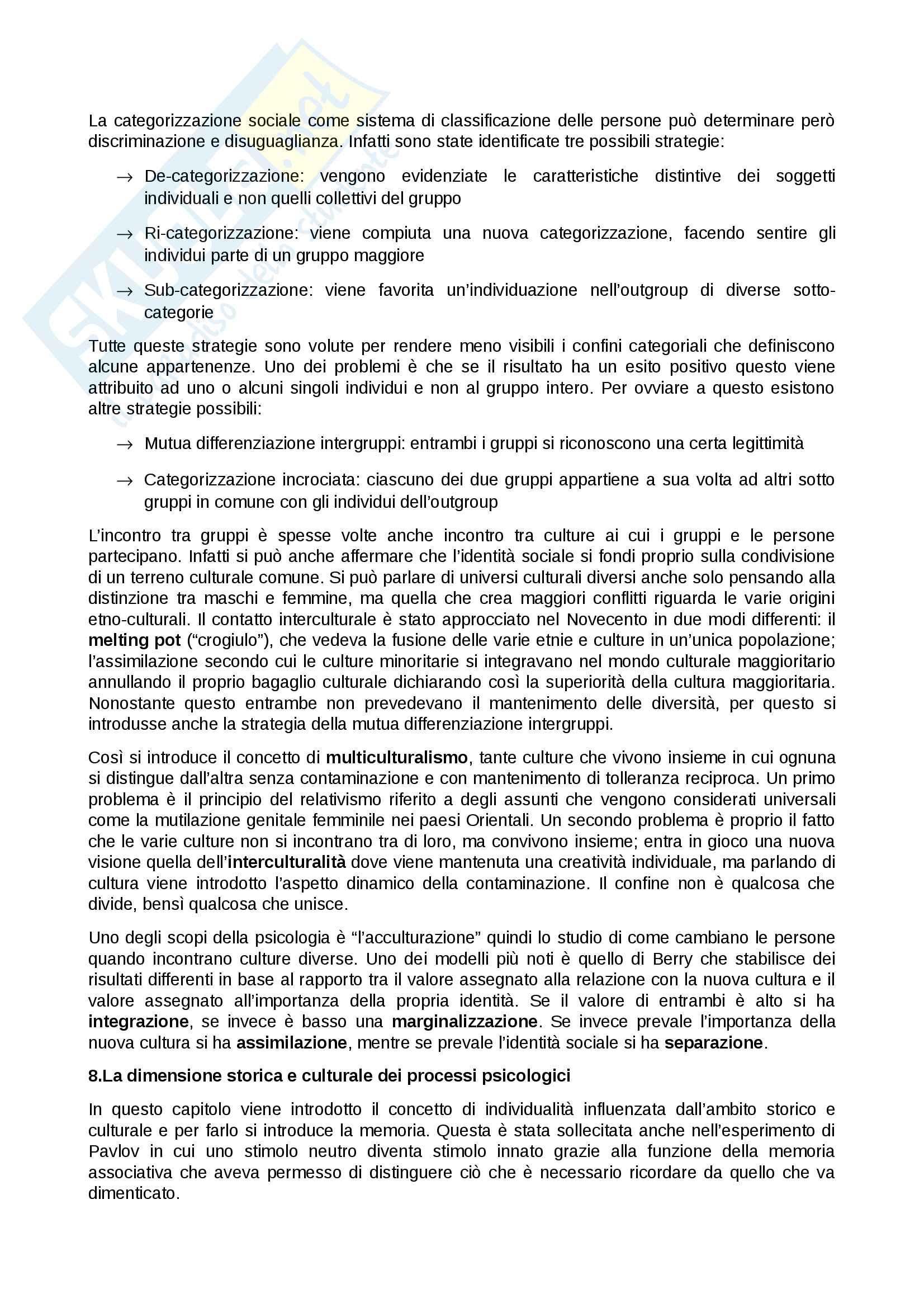 Riassunto esame Psicologia sociale, prof. Sarrica, libro consigliato La psicologia sociale. Processi mentali, comunicazione e cultura Pag. 16