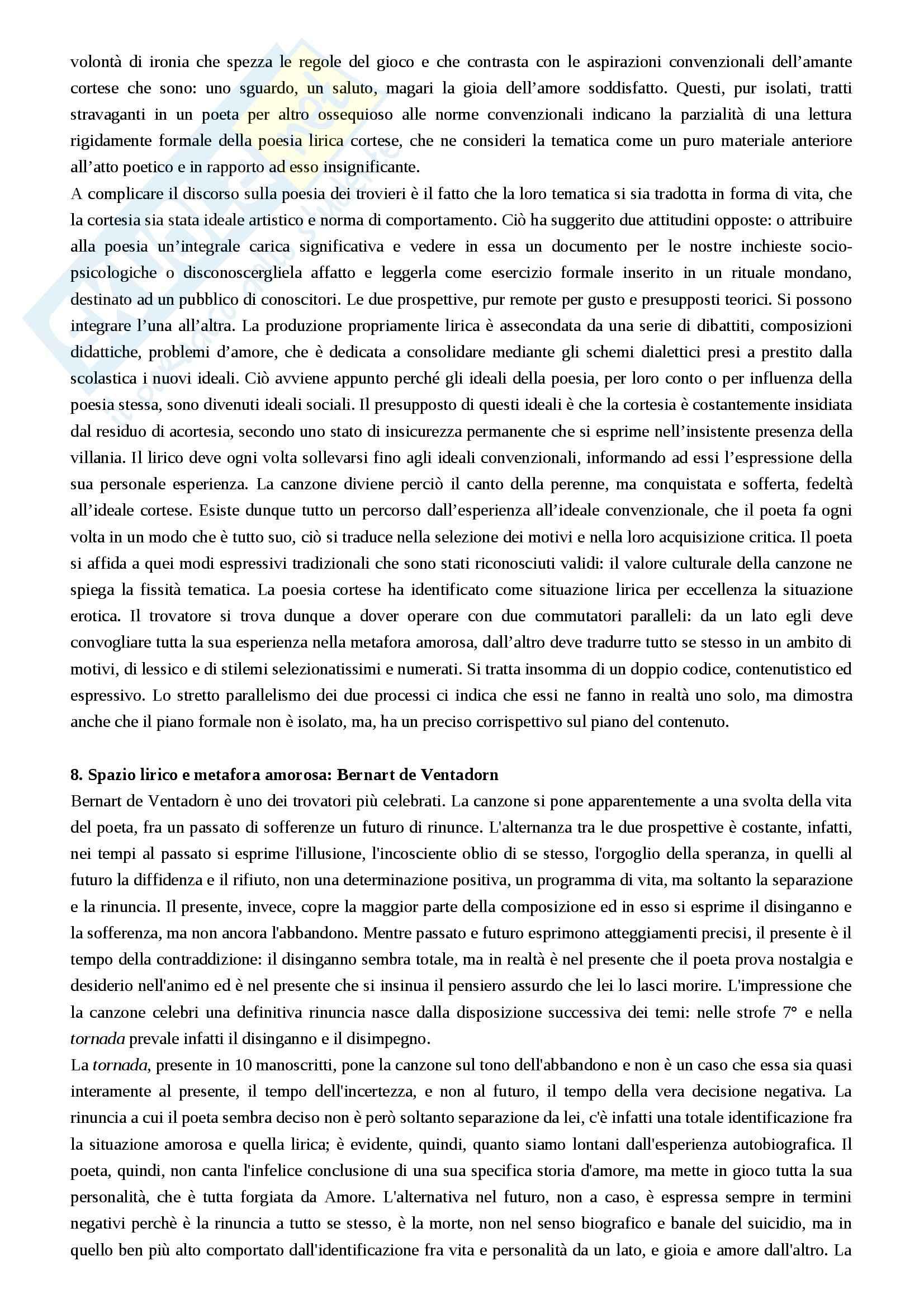 Riassunto esame Filologia romanza, prof. Luongo, libro consigliato Letterature romanze del Medioevo, Varvaro Pag. 26