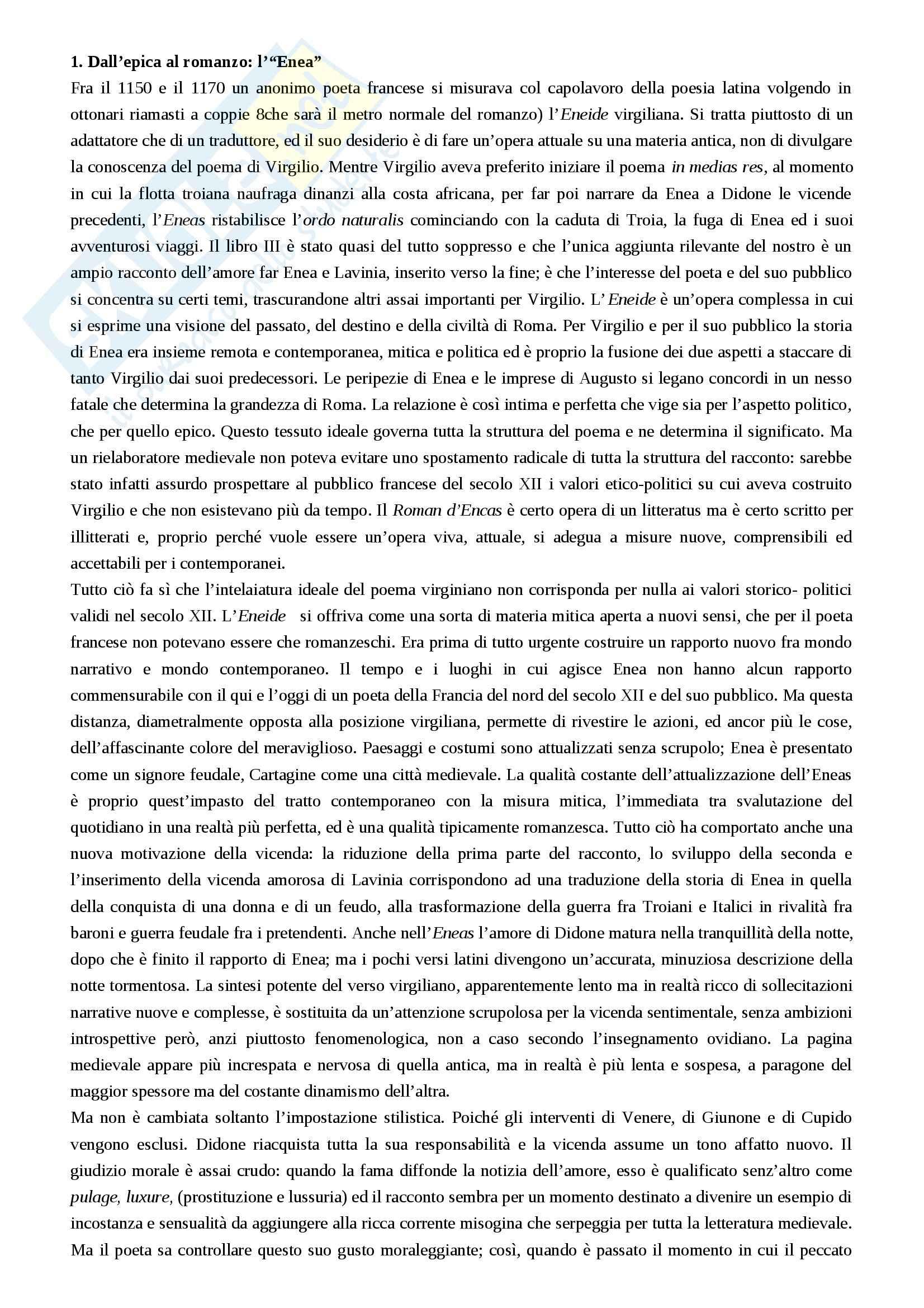 Riassunto esame Filologia romanza, prof. Luongo, libro consigliato Letterature romanze del Medioevo, Varvaro Pag. 36