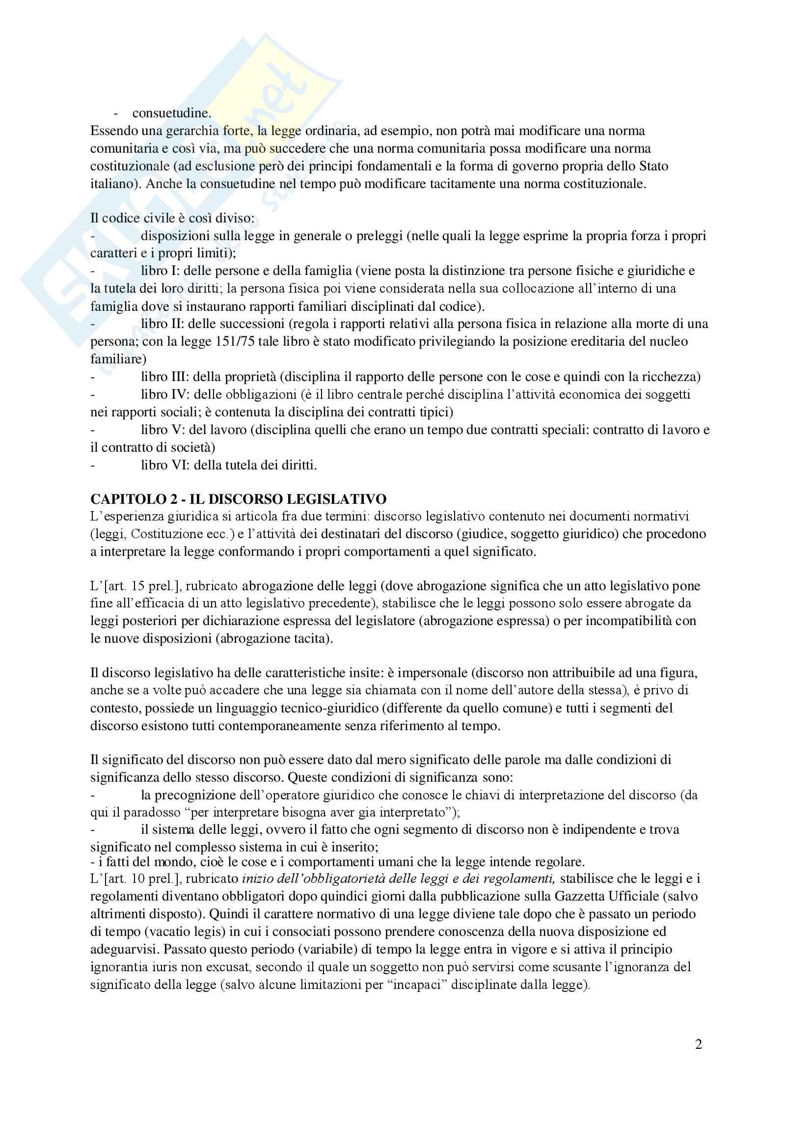 Riassunto esame Diritto privato, prof. Lener, libro consigliato Istituzioni delle leggi civili, Russo Pag. 2