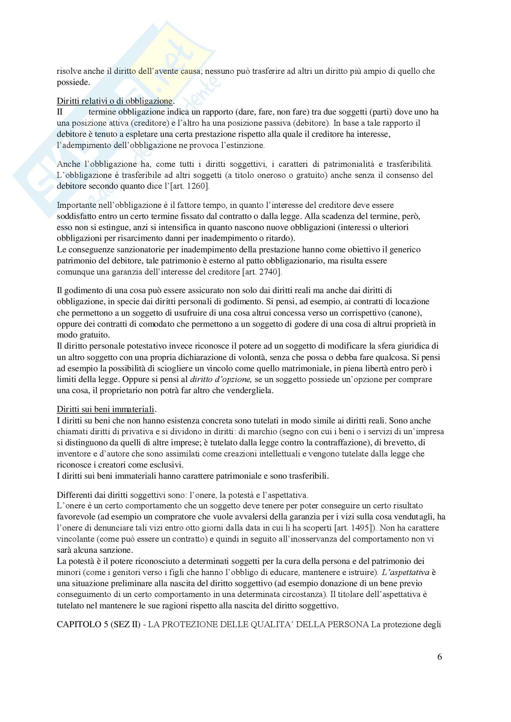 Riassunto esame Diritto privato, prof. Lener, libro consigliato Istituzioni delle leggi civili, Russo Pag. 6