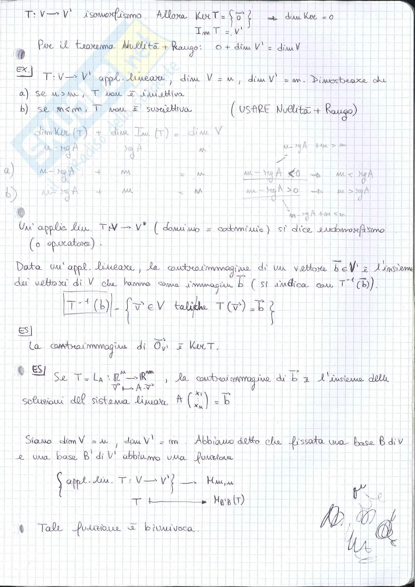 Geometria - seconda parte del programma