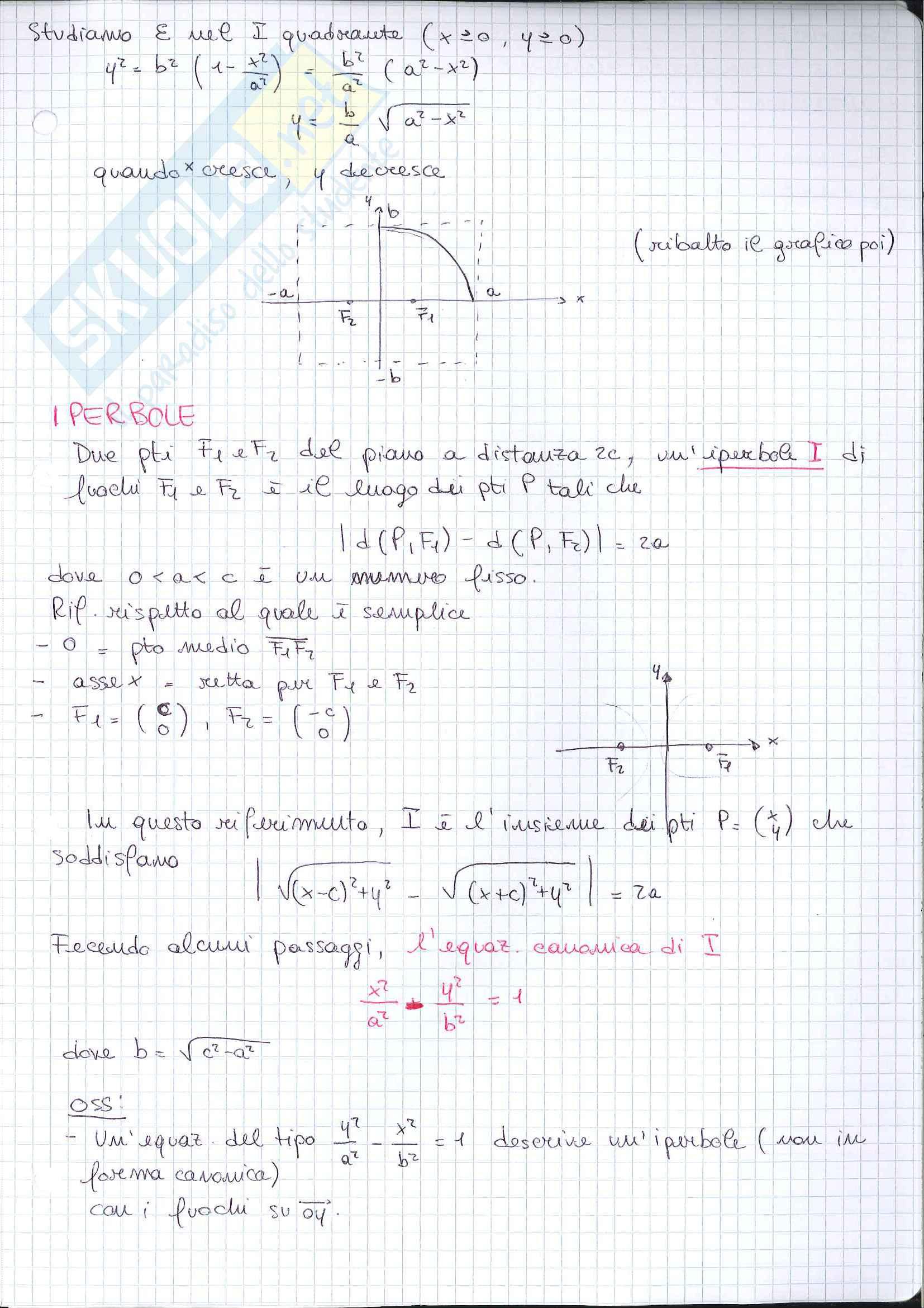 Geometria - seconda parte del programma Pag. 61