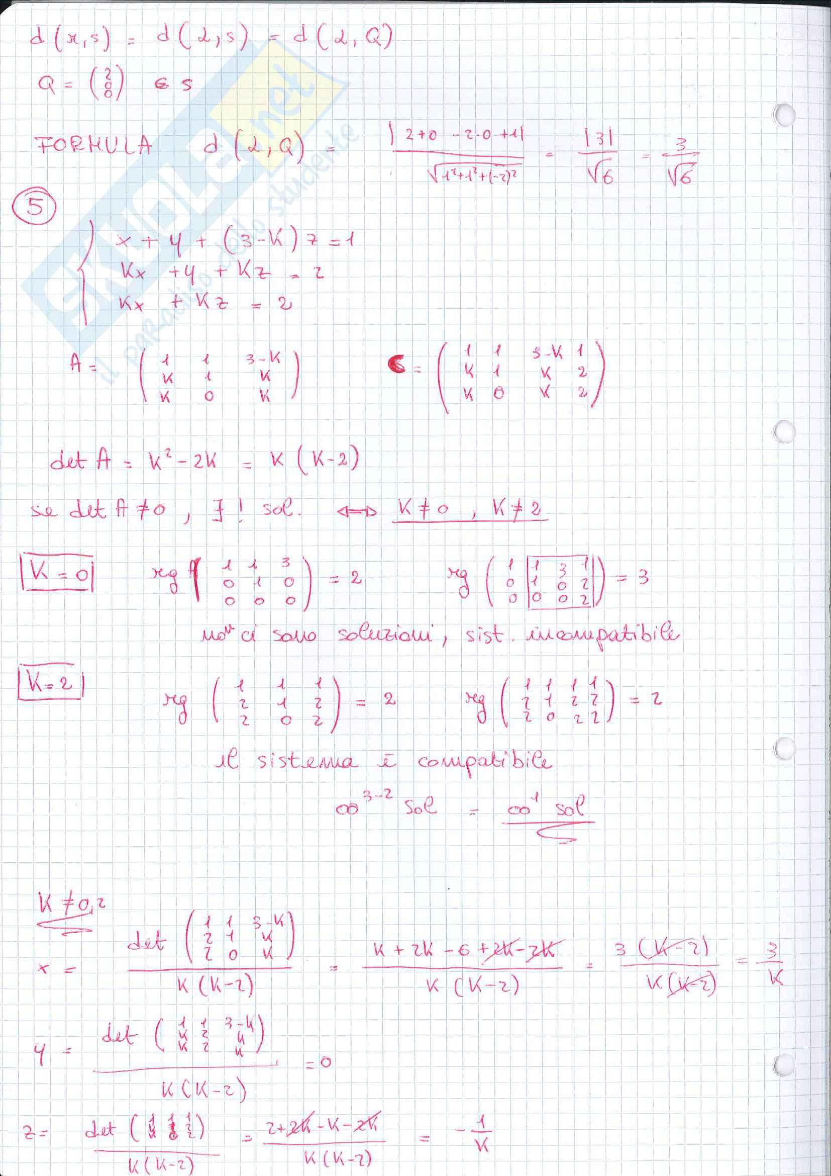 Geometria - seconda parte del programma Pag. 91