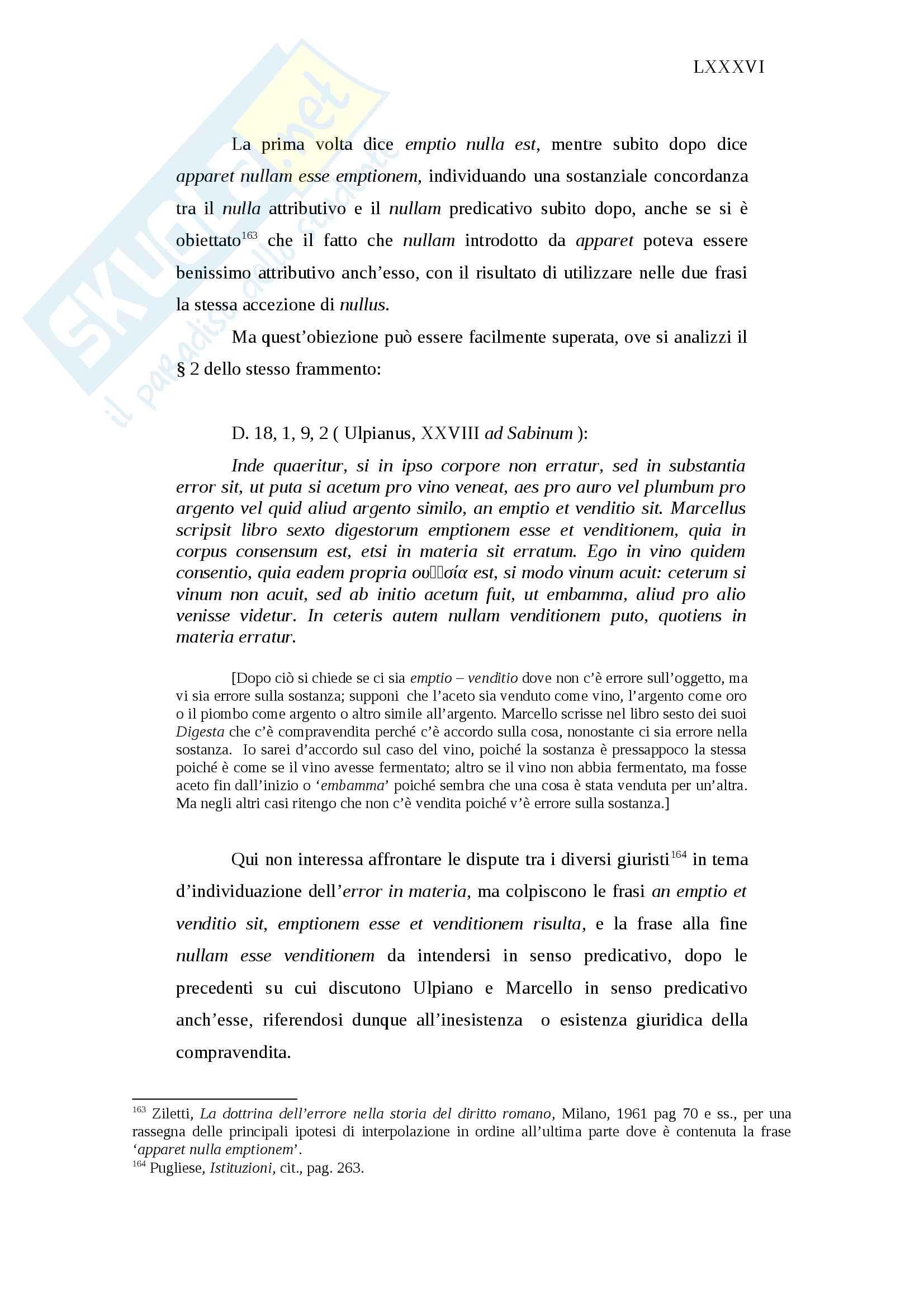 Invalidità ed inefficacia del negozio giuridico in diritto romano Pag. 86