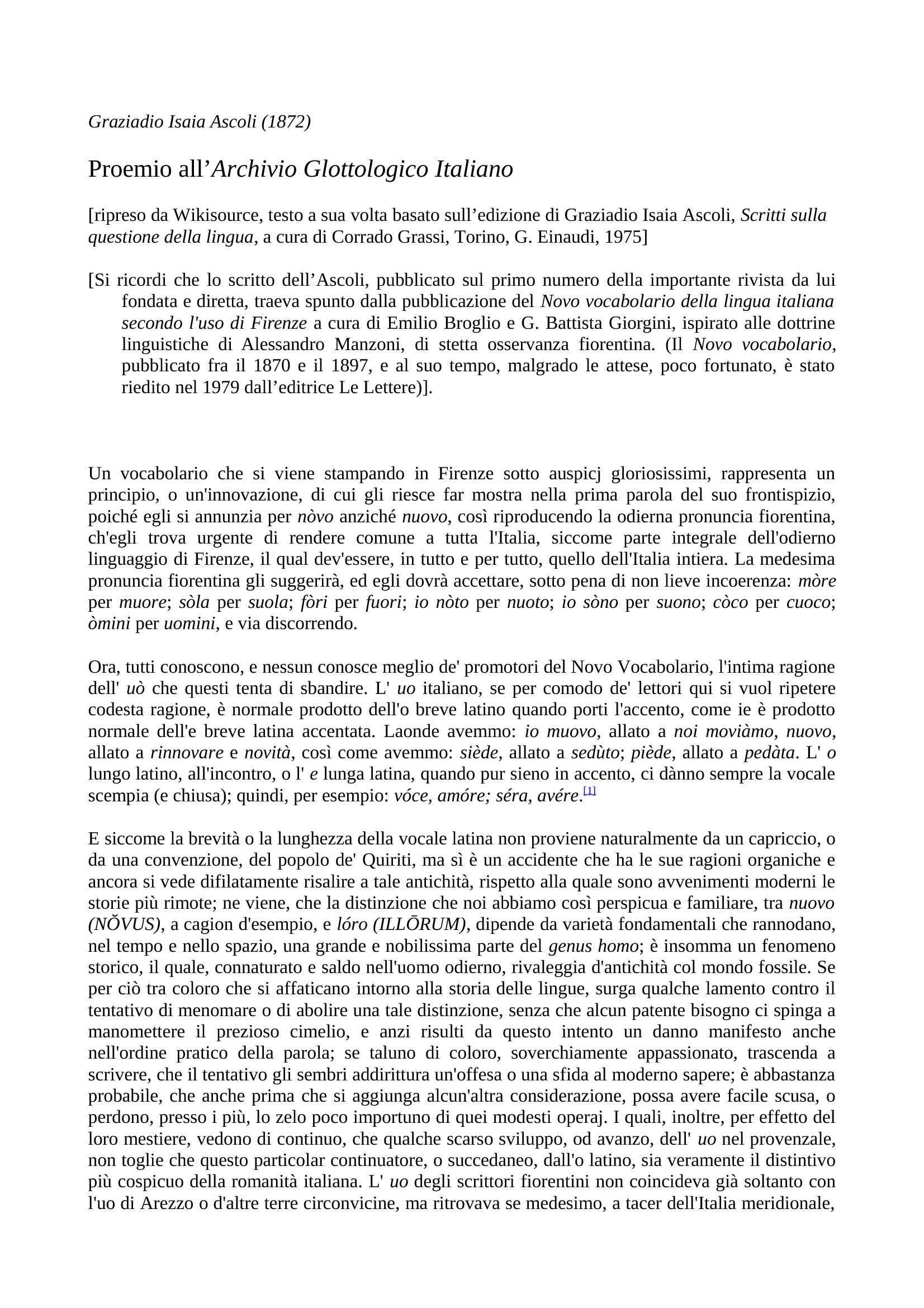 Ascoli, Graziadio Isaia