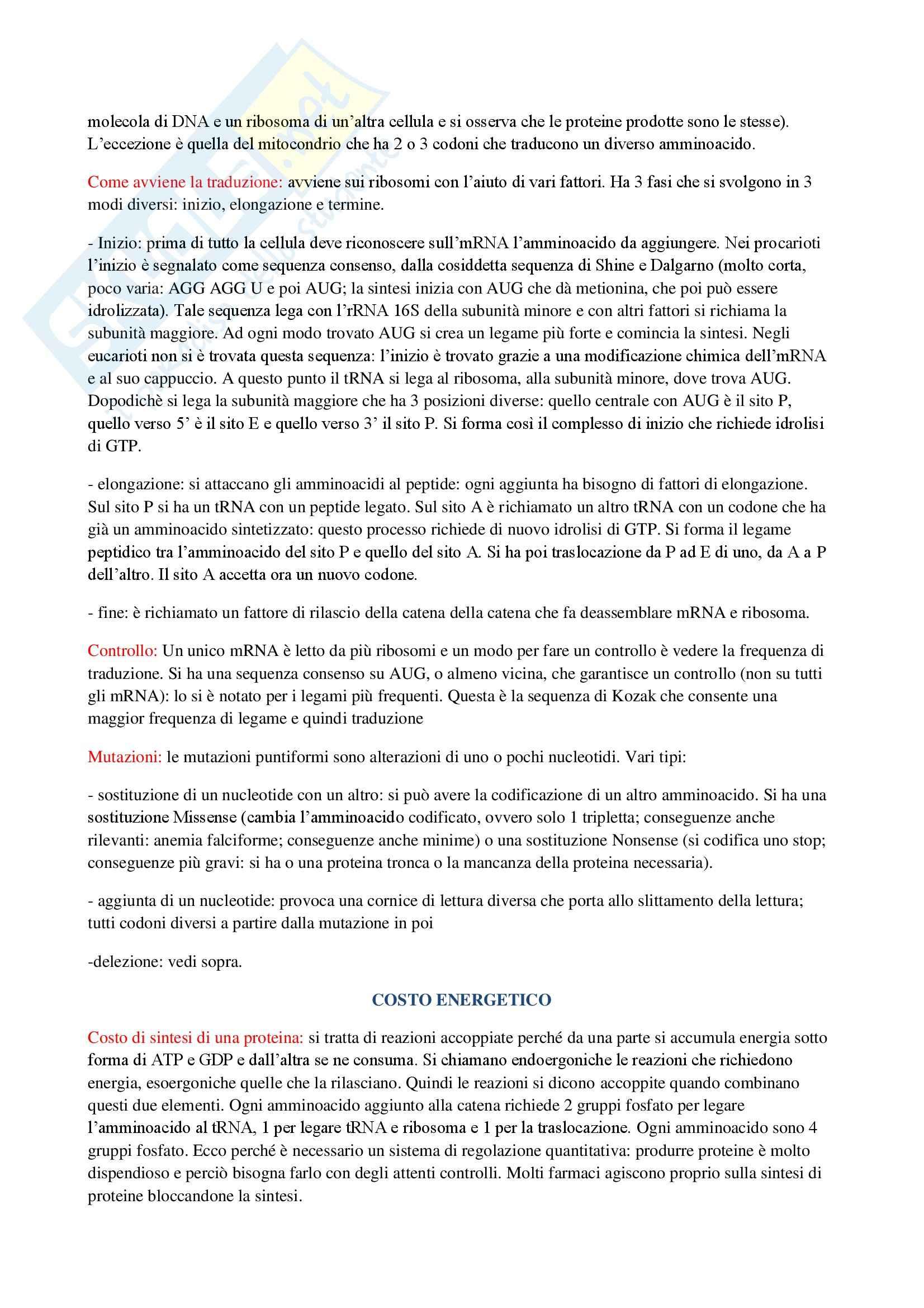 Biologia generale e molecolare - Appunti Pag. 11