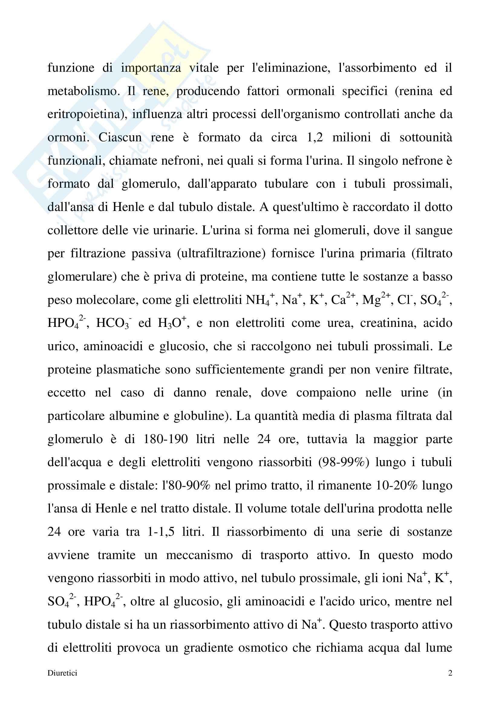 Chimica farmaceutica - diuretici Pag. 2
